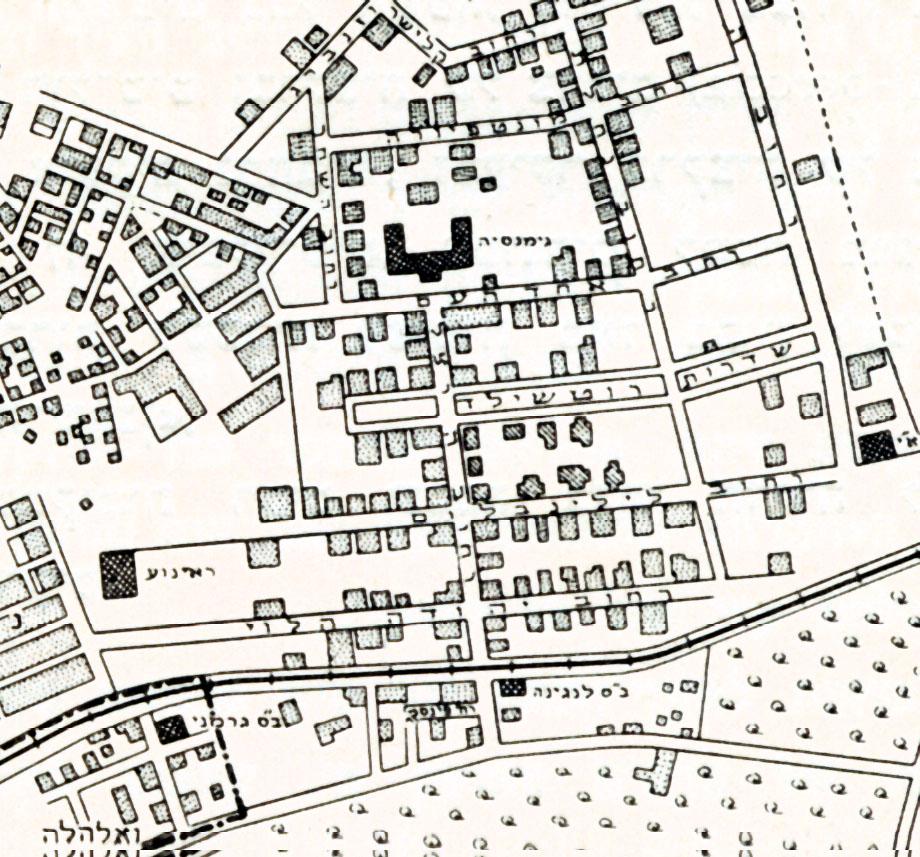 מפת תל אביב ערב מלחמת העולם הראשונה