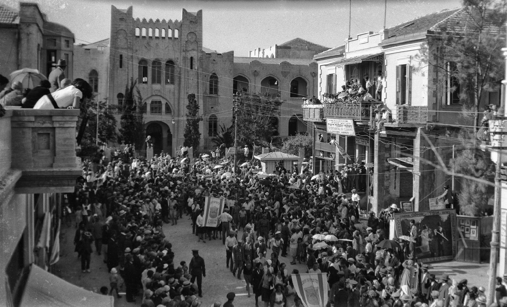 הגימנסיה הרצליה הייתה מוקד החיים בתל אביב הקטנה