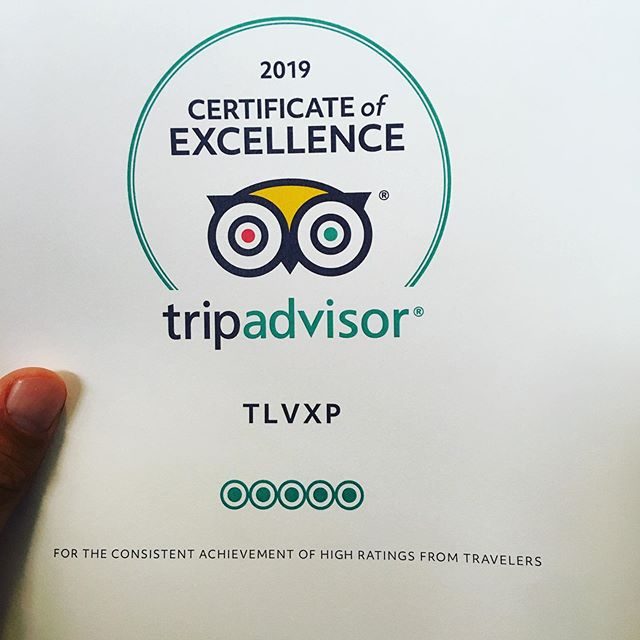 Yes! Thanks to all the great reviews, my tours in Tel Aviv are rated among the top 10 on TripAdvisor and I got this certificate for 2019 !