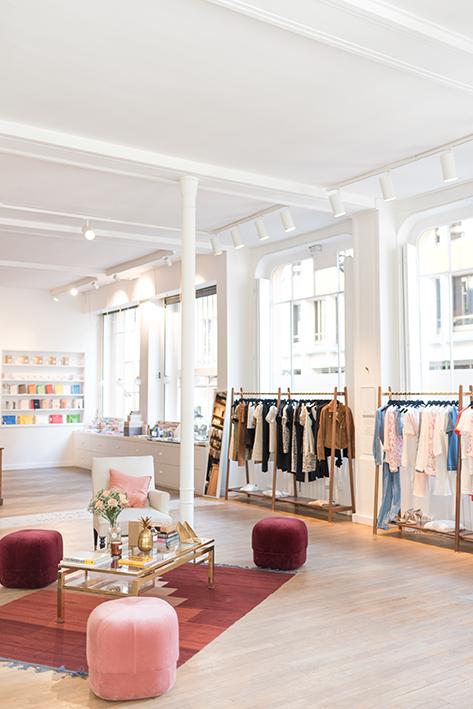 L'appartement Sézane  /  Store / 1 rue Saint Fiacre, 75002.