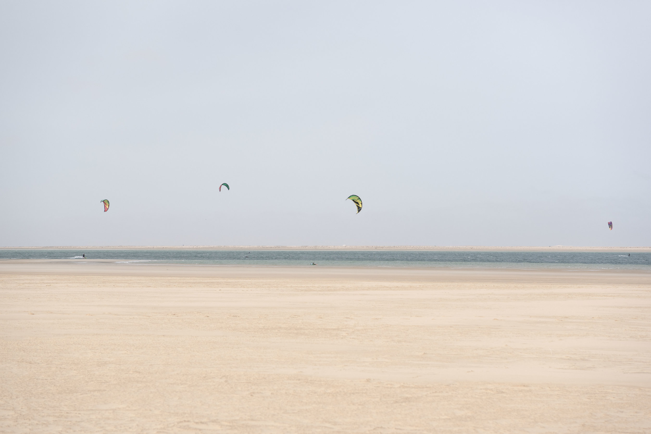 The Bay of Dakhla is considered one of the best kite-surfing spots in the world.