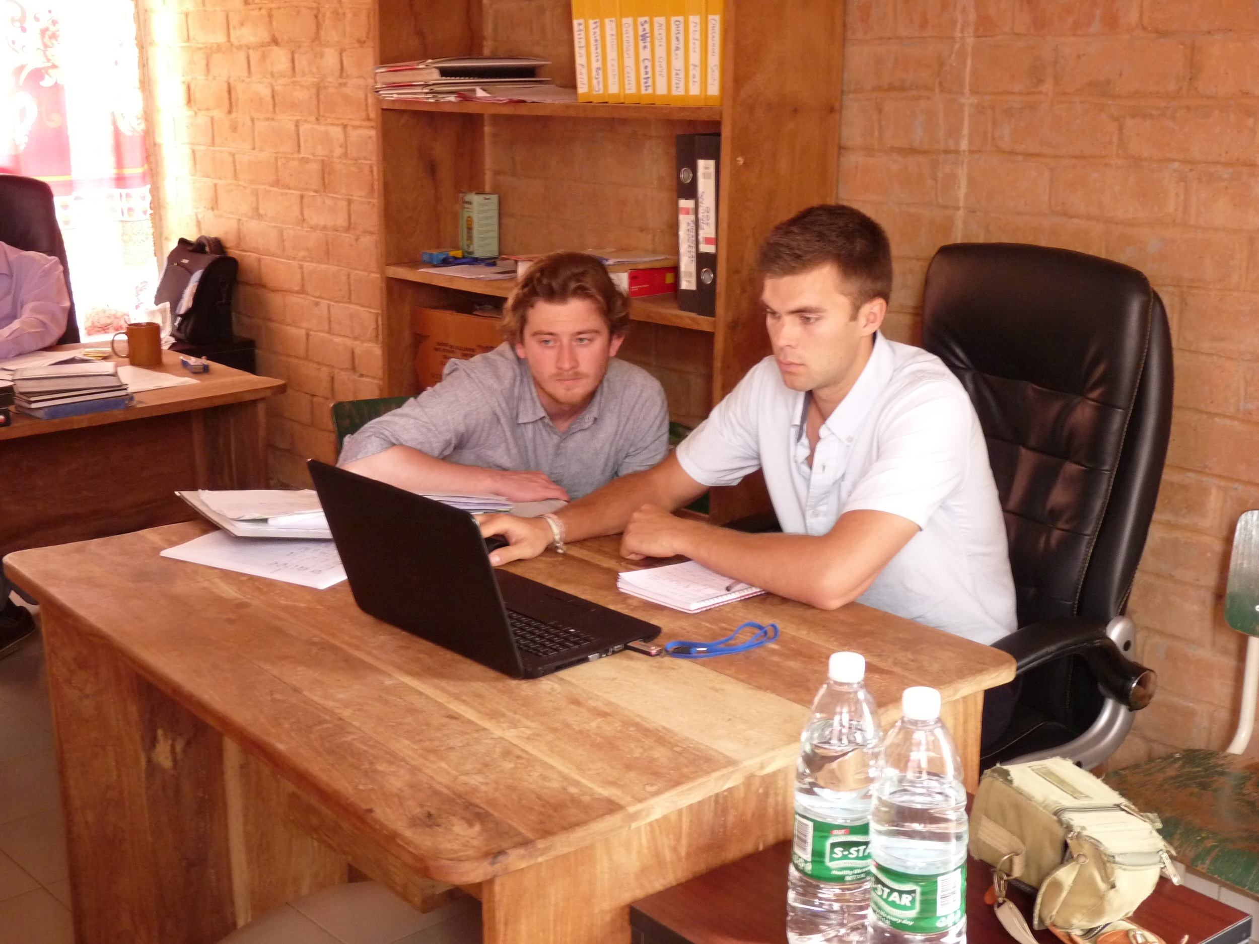 Mike and Tom working in The Gambia