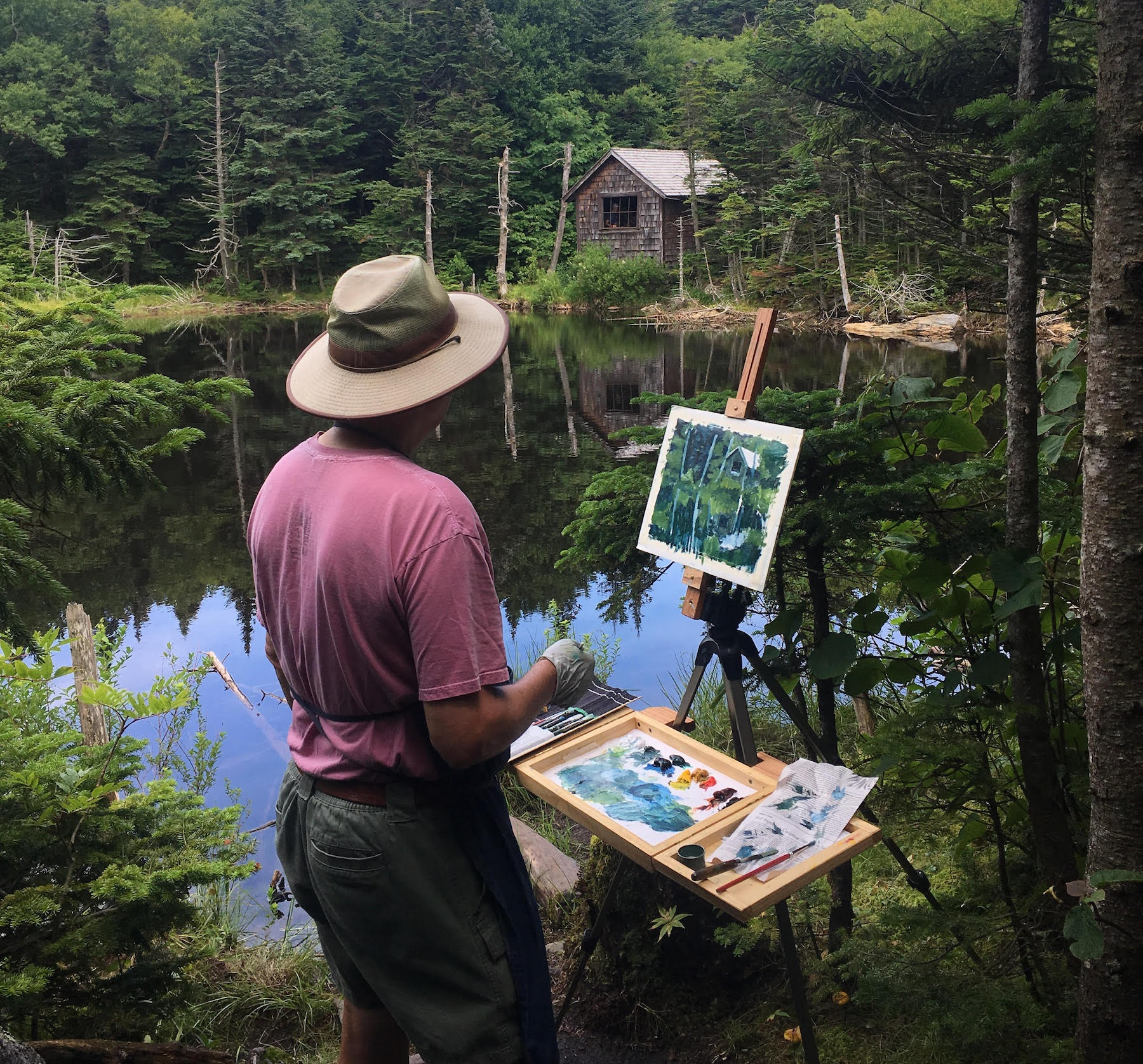 Bob Lafond paints natural landscapes of the Berkshires, as well as scenes from Brooklyn streets, with a clear sense of season and light.