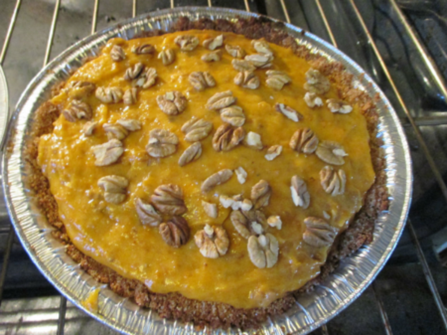 A persimmon hickory pie that was somehow even even tastier than we imagined it might be.