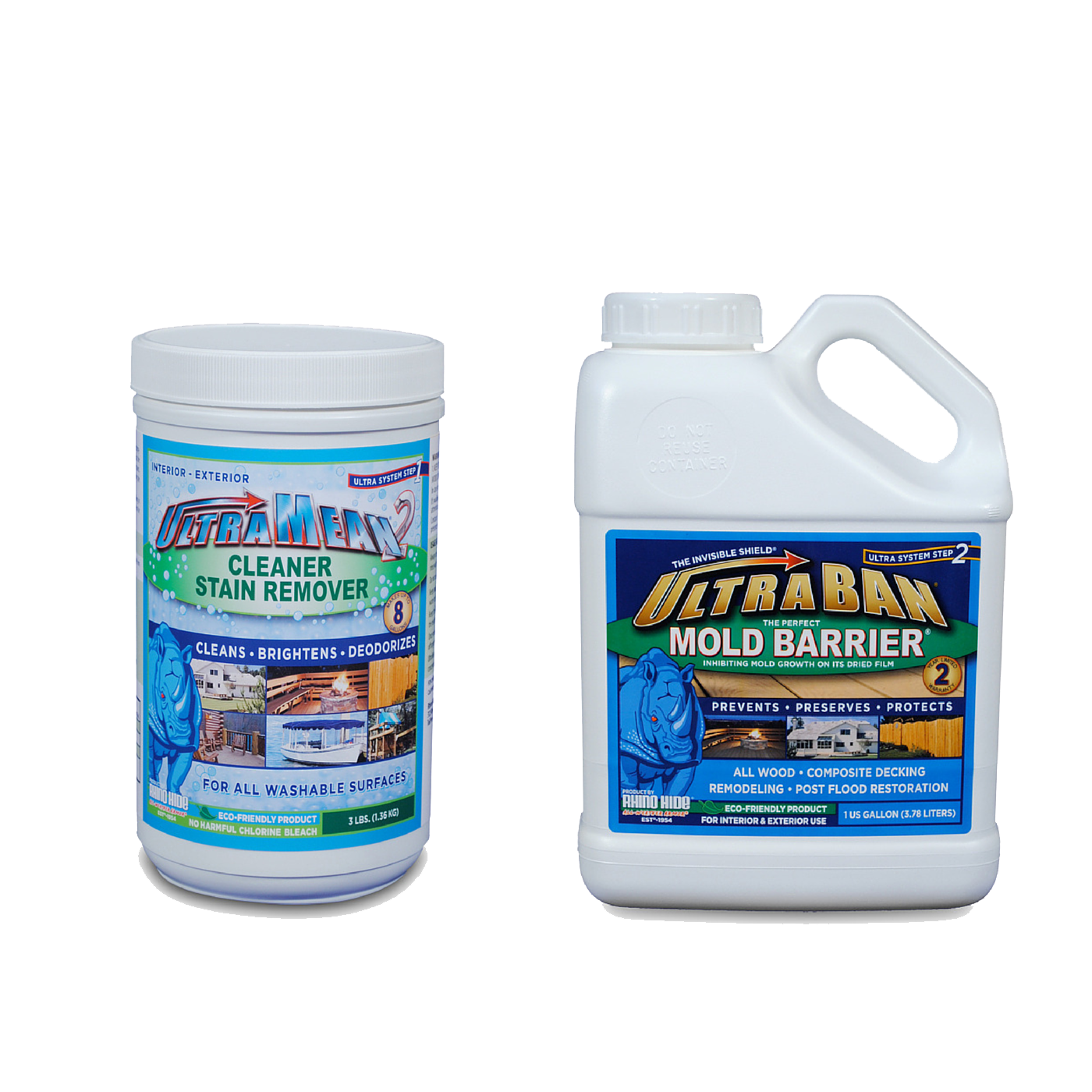 The Ultra System - UltraMean2 and UltraBan are commonly used in the mold remediation and home restoration process to help protect the home from mold.
