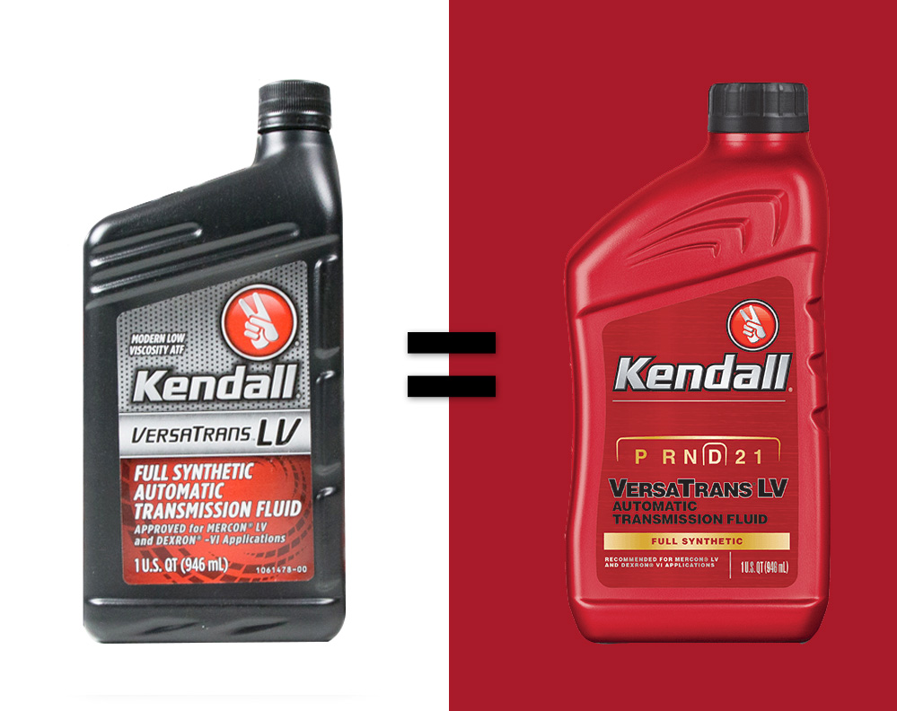 THE NEW AND IMPROVED KENDALL Versatrans LV atf: full synthetic automatic transmission fluid.