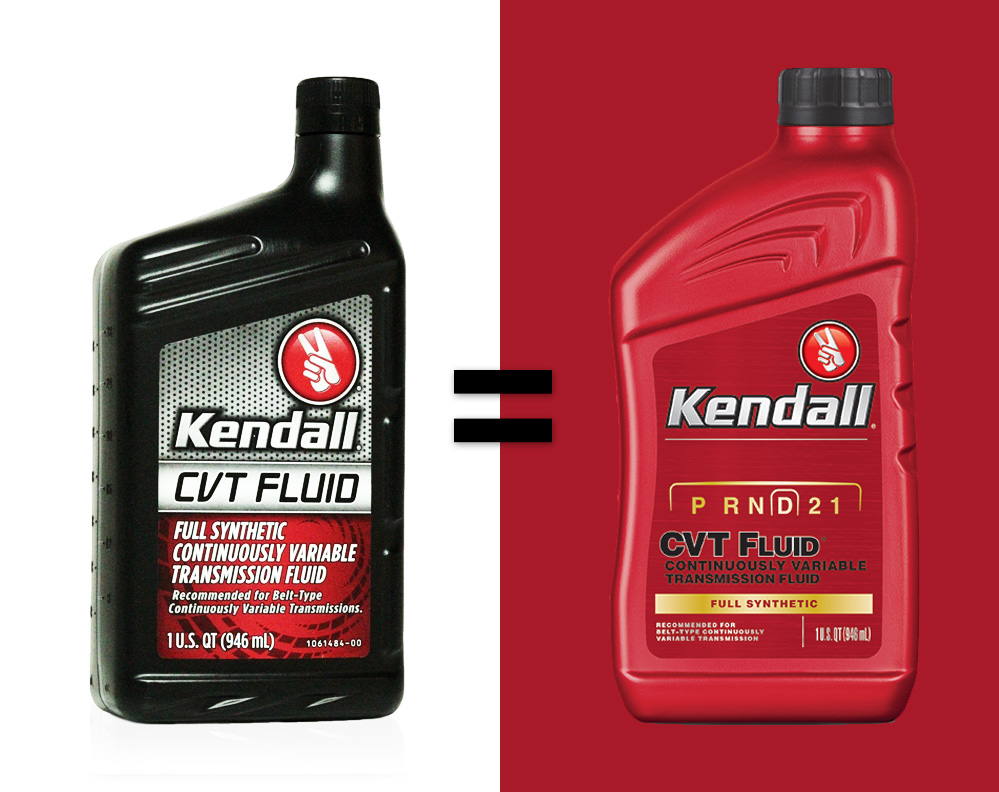 THE NEW AND IMPROVED KENDALL CVT fluid: continuously variable transmission fluid.