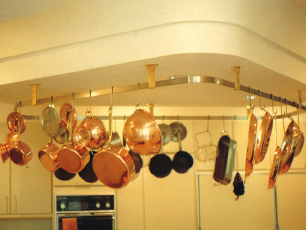Pots and pan racks and really change the look of a kitchen.