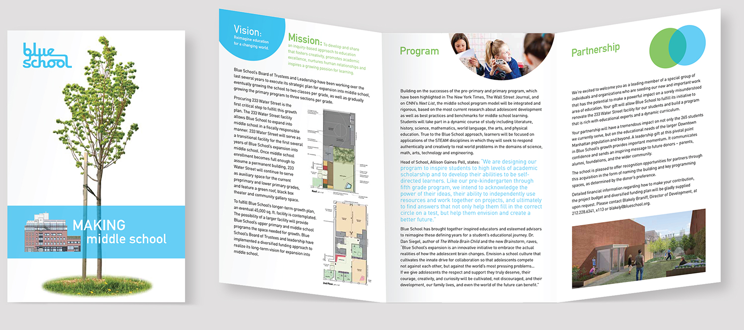 BLUE SCHOOL MIDDLE SCHOOL BROCHURE