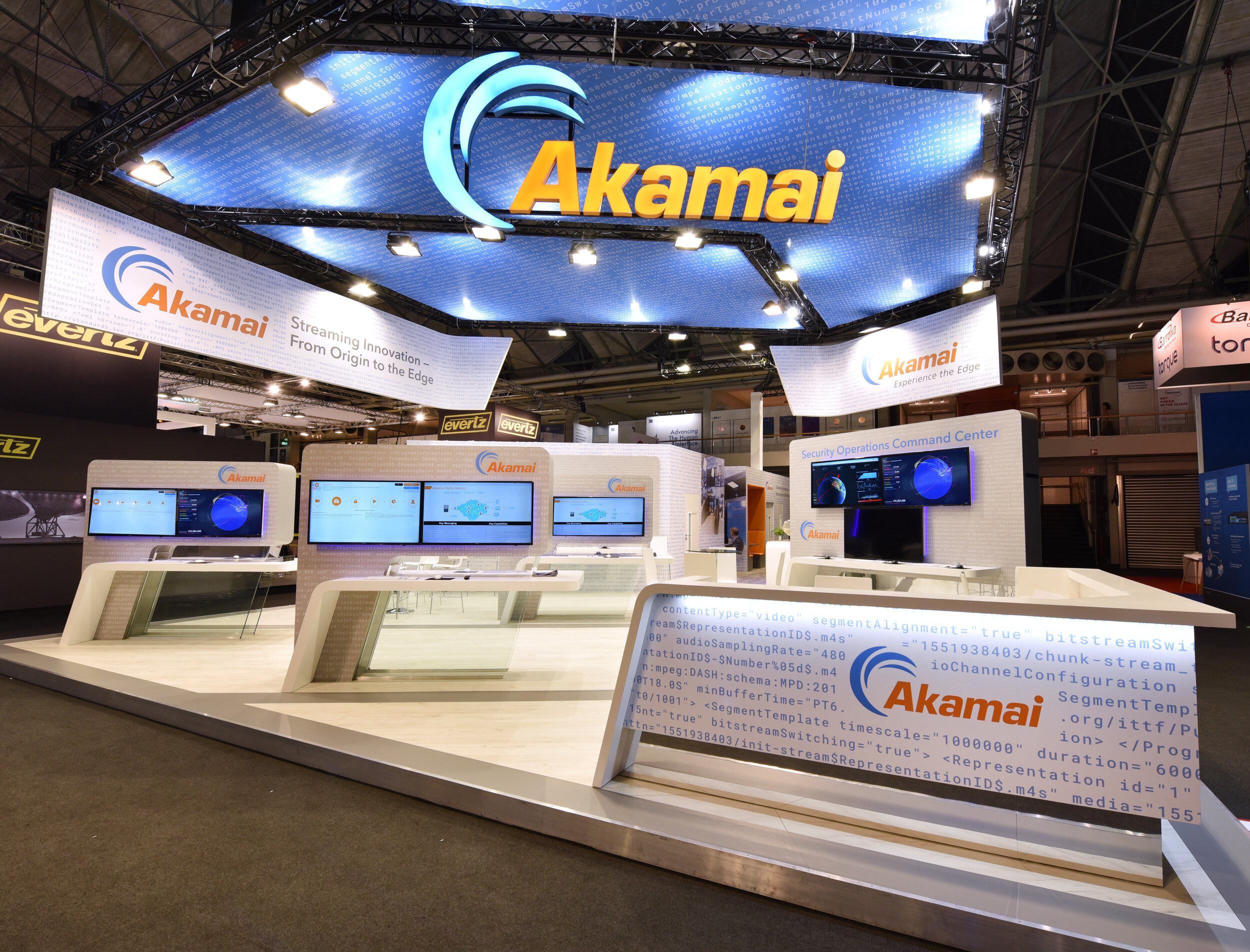 Akamai at IBC, Amsterdam. 220m2.