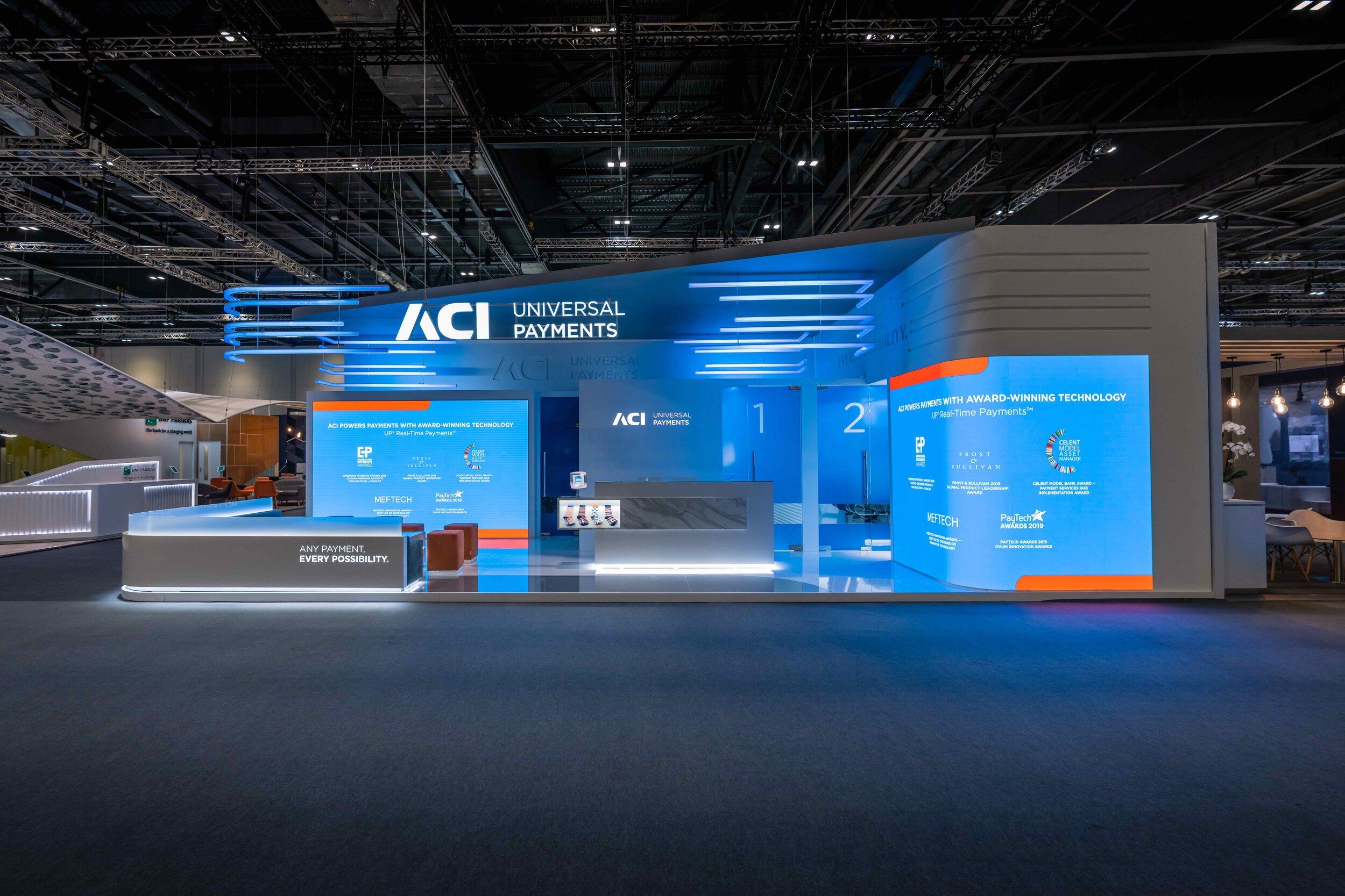 ACI Worldwide at Sibos, London. 72m2.