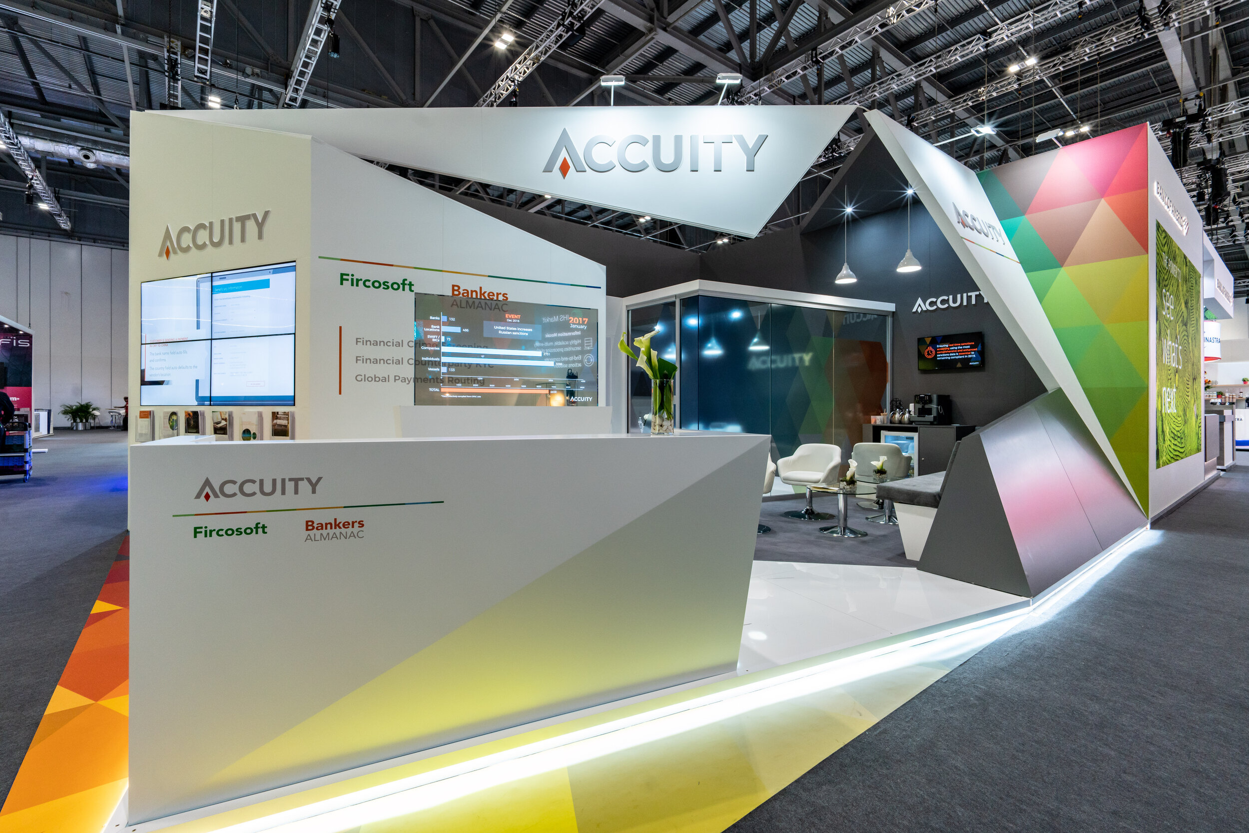 Accuity at Sibos, London. 48m2.