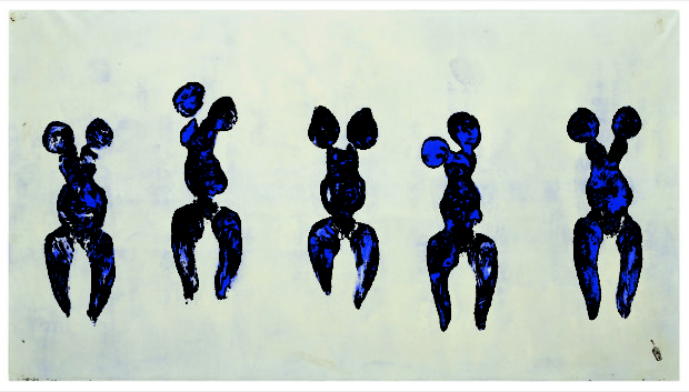 """Anthropometry of the Blue Period (ANT 82)""   1960, Musée National d'Art Moderne, Centre Georges Pompidou, Paris"