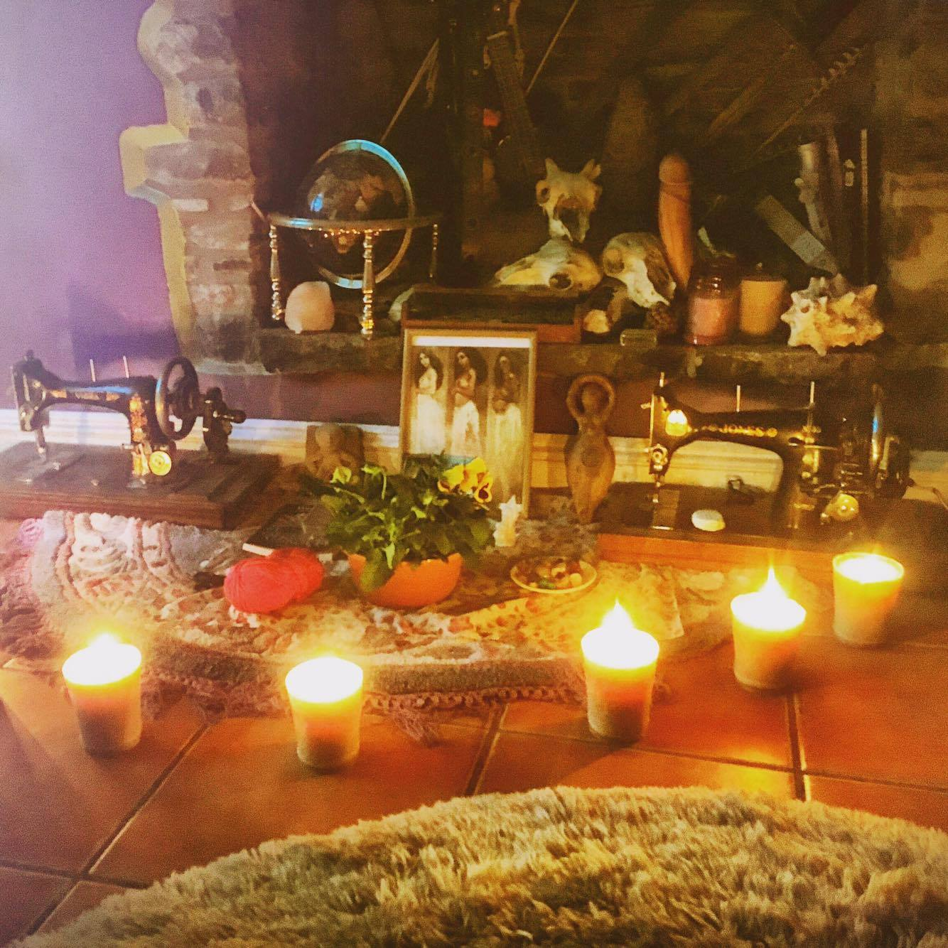 """Probably better known as a """"hippy baby shower"""". We ate cake and drank tea and blessed and energised the birth space, talked about motherhood and bound ourselves with red cord around the wrist that we can only cut off when baby has arrived safely."""
