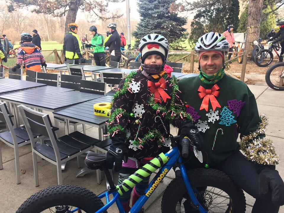 POINTS THEME: - HOLIDAZE!!10 Points for Ugly Holiday Sweater :)5 Points for Riding a Trek Bicycle (or making your bike into a Trek for the race)5 Points for significant plaid/flannel on the bike or on your body