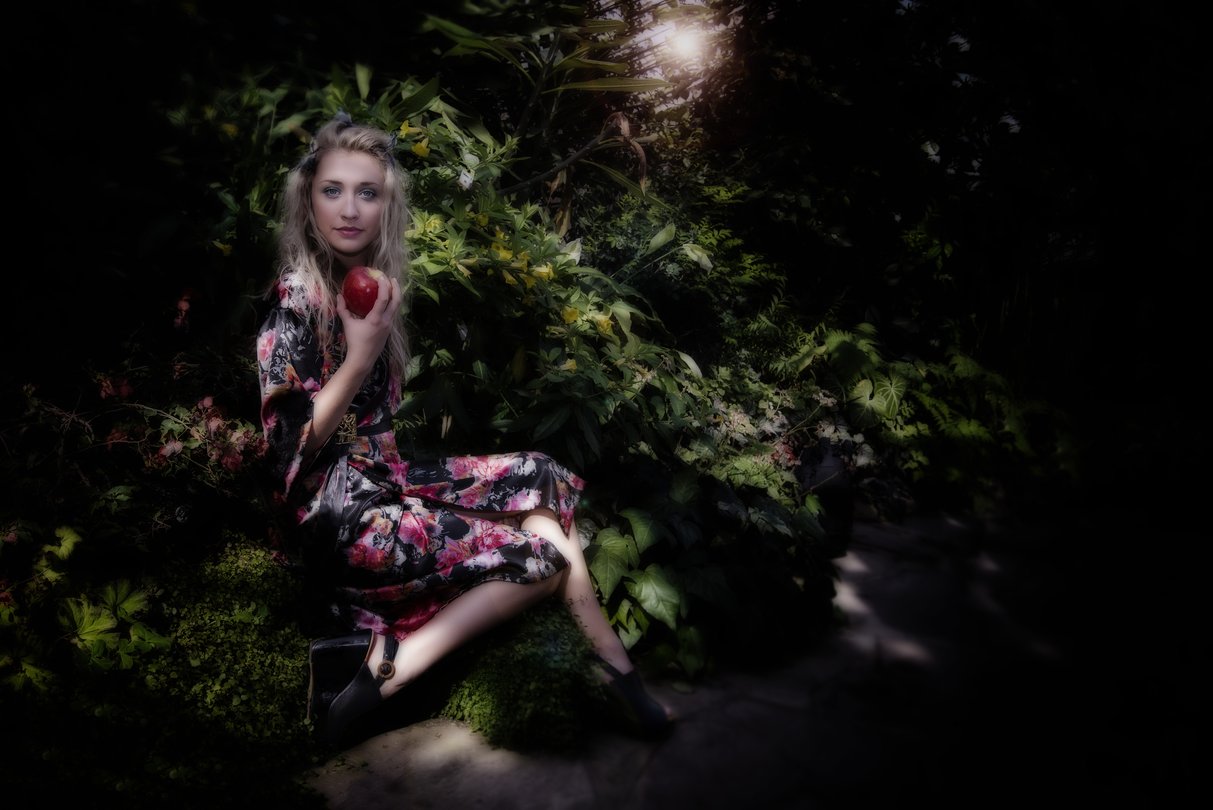 photo by Andy Burleigh on location at the Gage Park Tropical Greenhouse with model Amy.