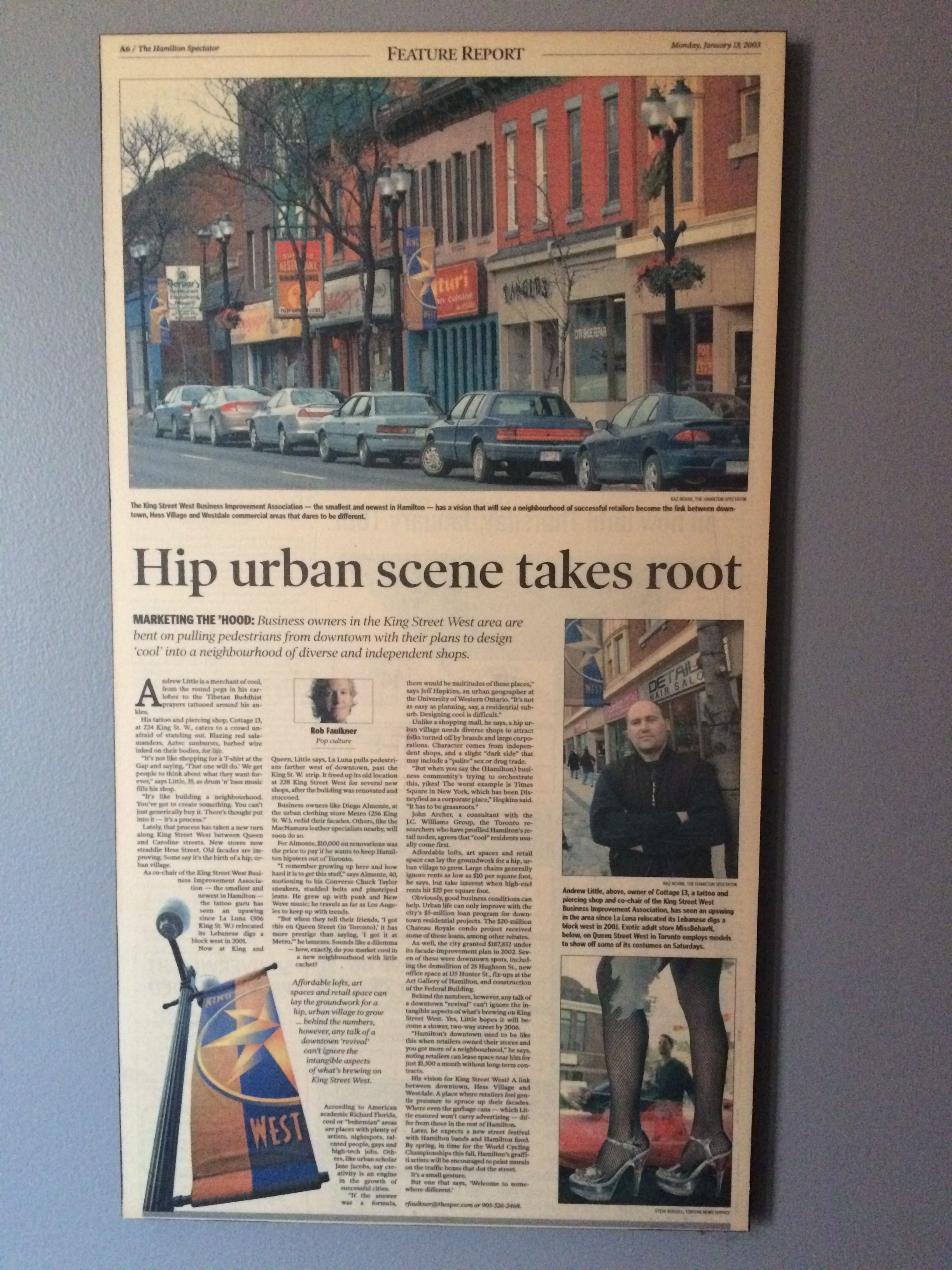Article from 2003 about the King West Neighbourhood.