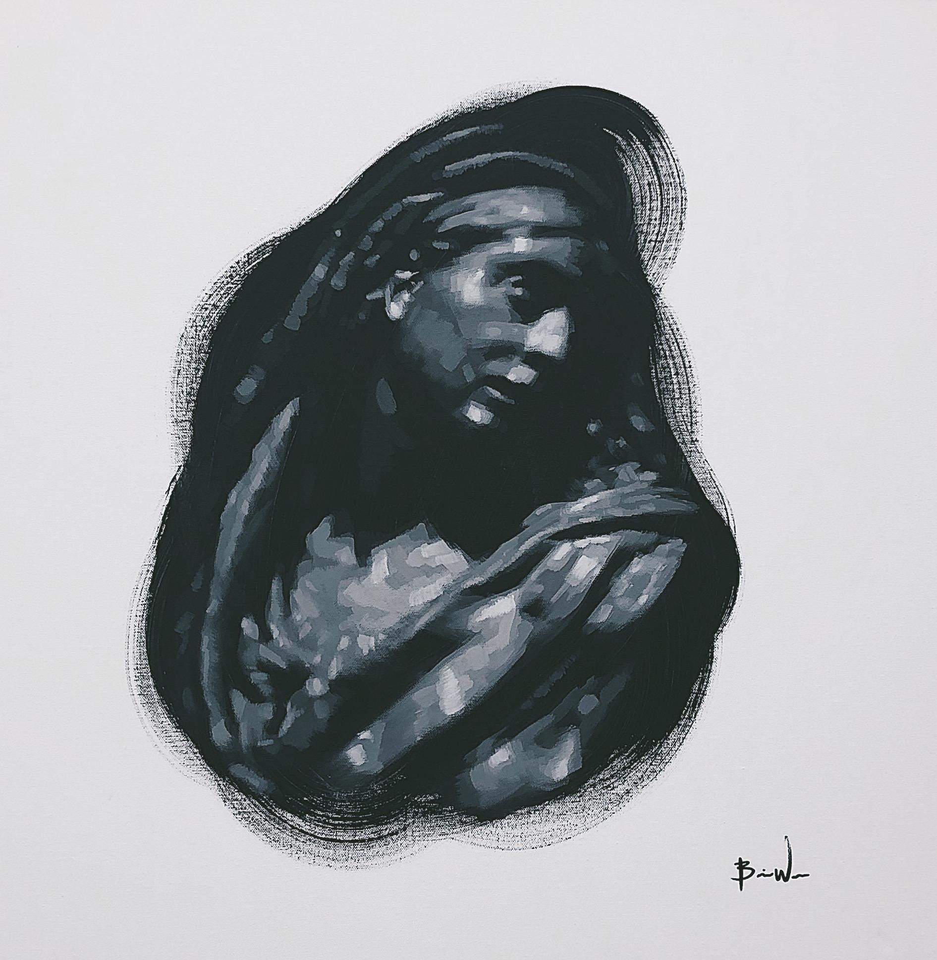 Image 2 - Brian Wooden Woman in Garment 2 12 x 12.JPG