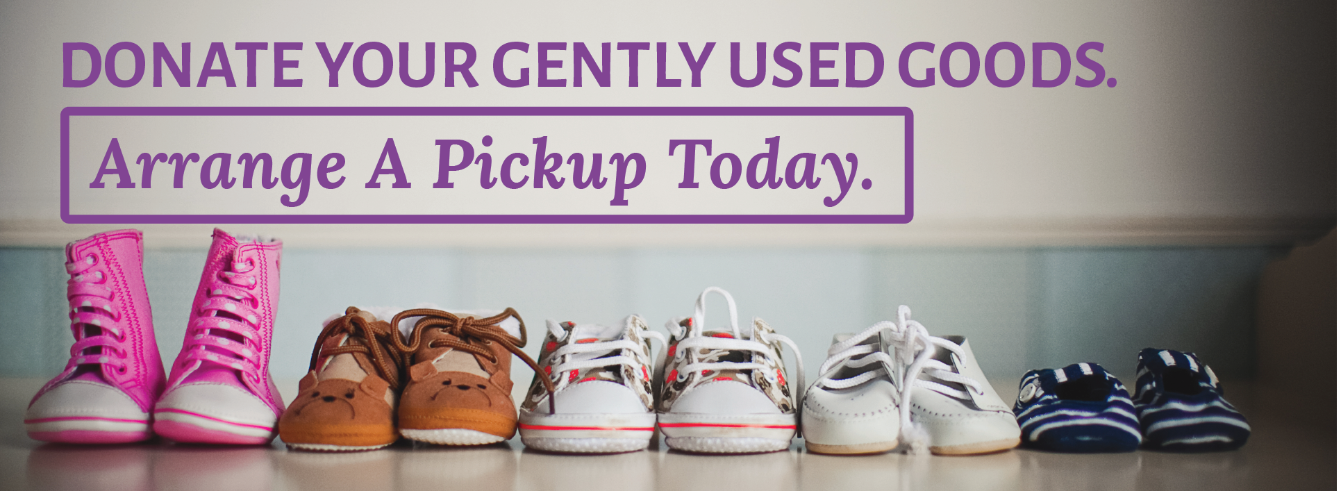 Lutheran Services of Georgia - Donate gently used goods banner