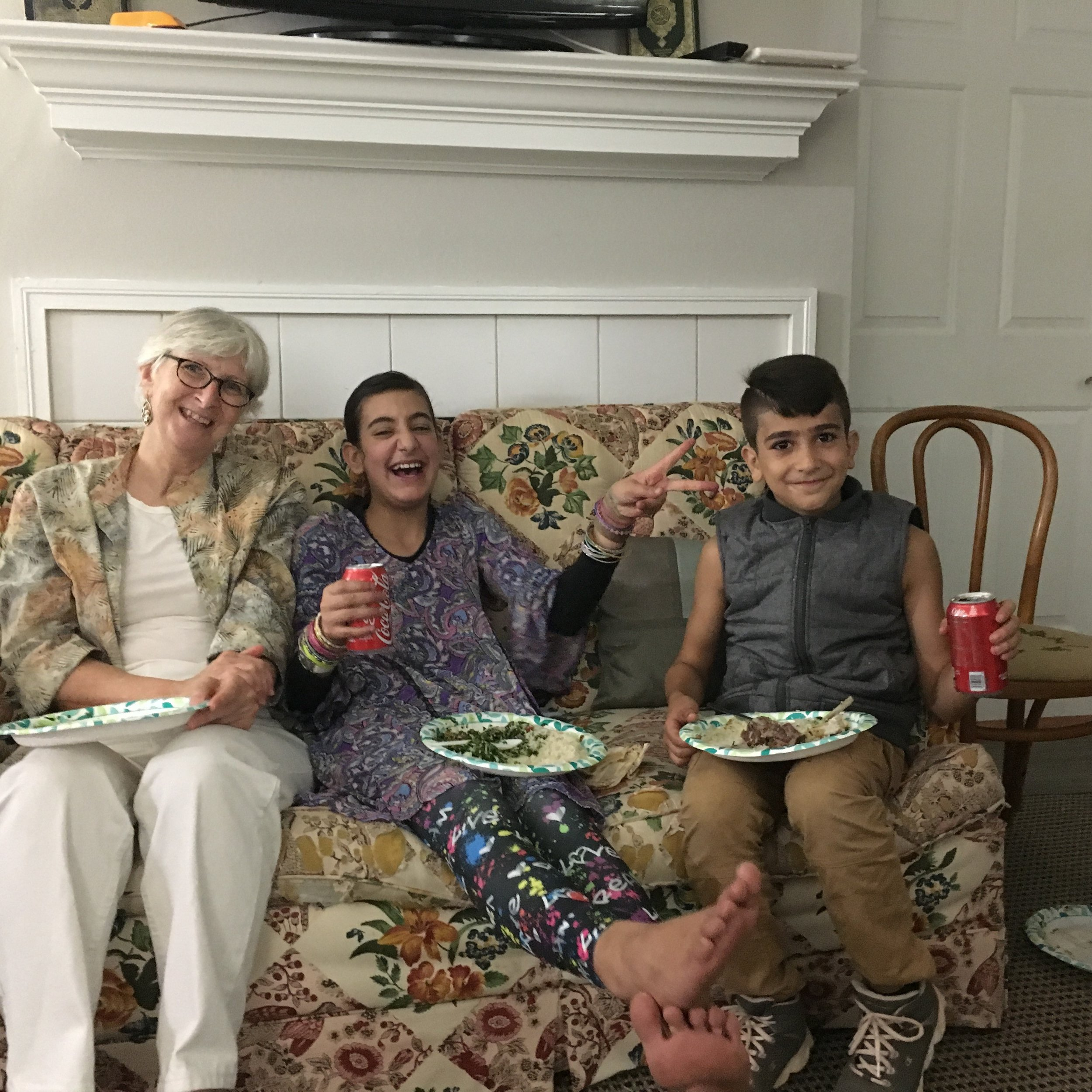 Volunteer Bev Arends at Obadah's 15th Birthday Party