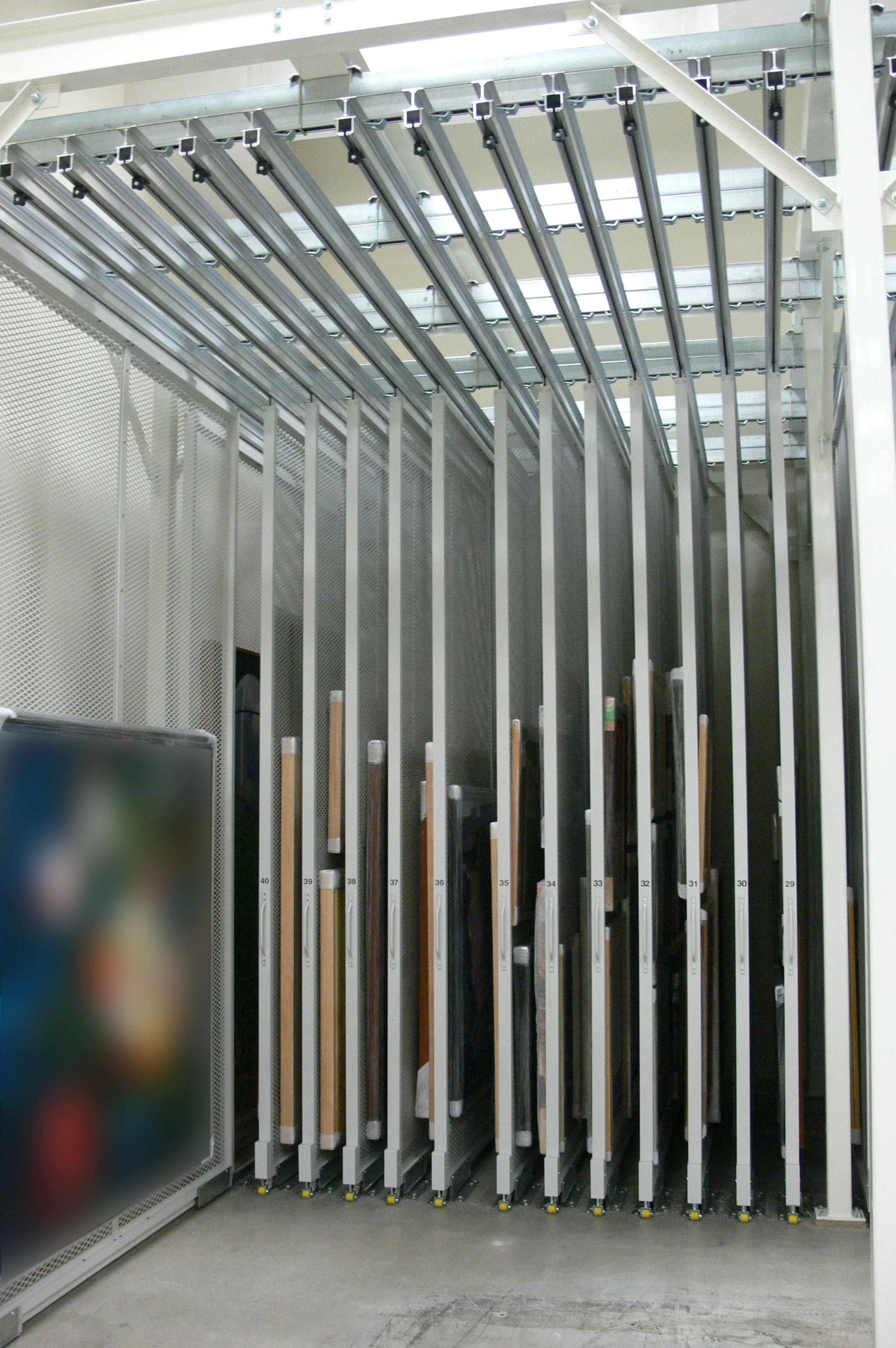 Organized Mobile Art Rack System