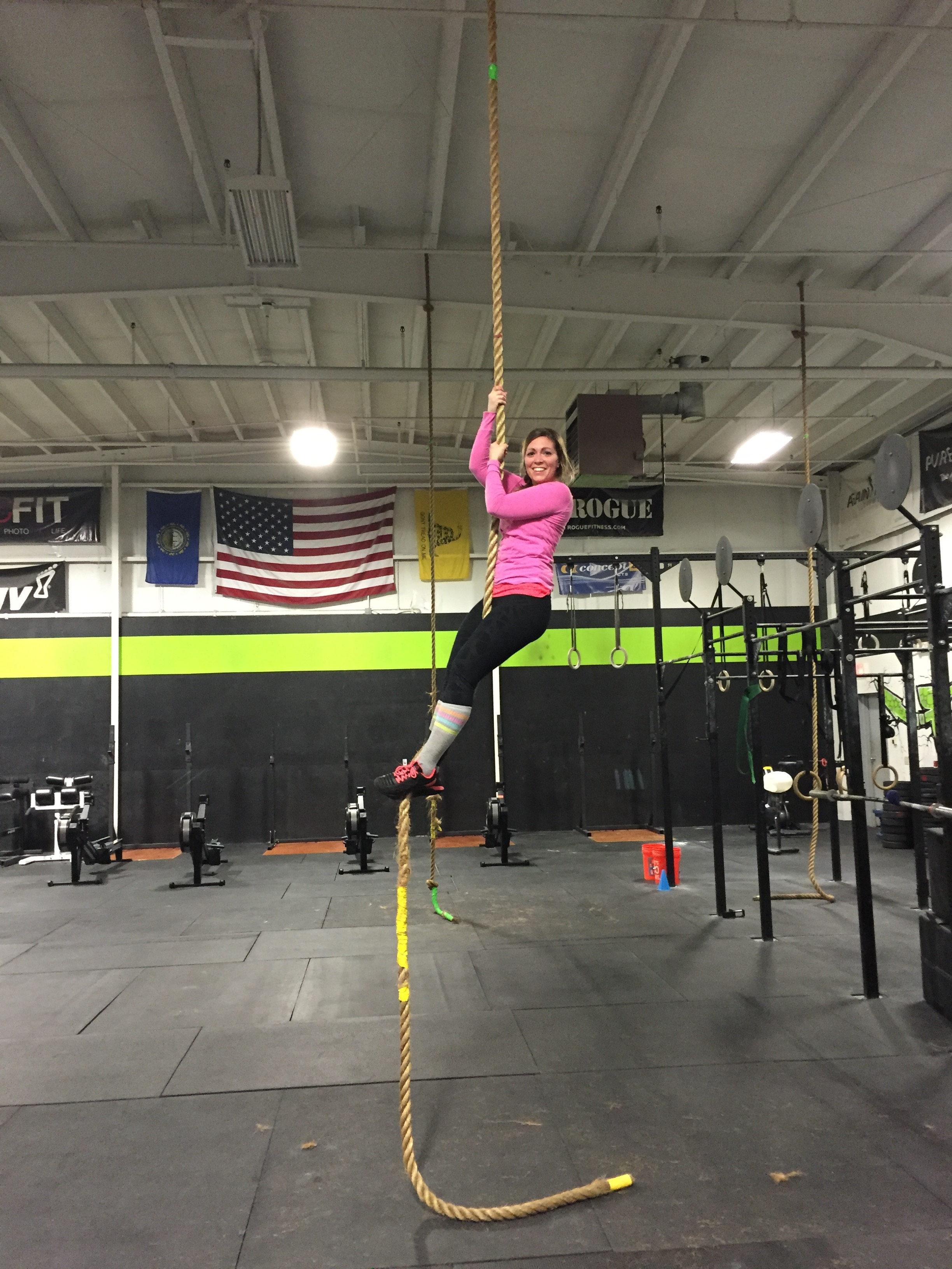 First rope climb today!!
