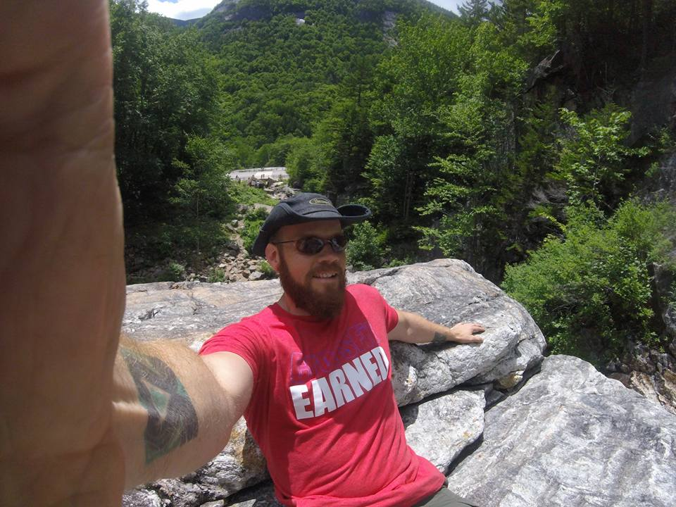 Jonathan enjoying the view at Silver Cascade!