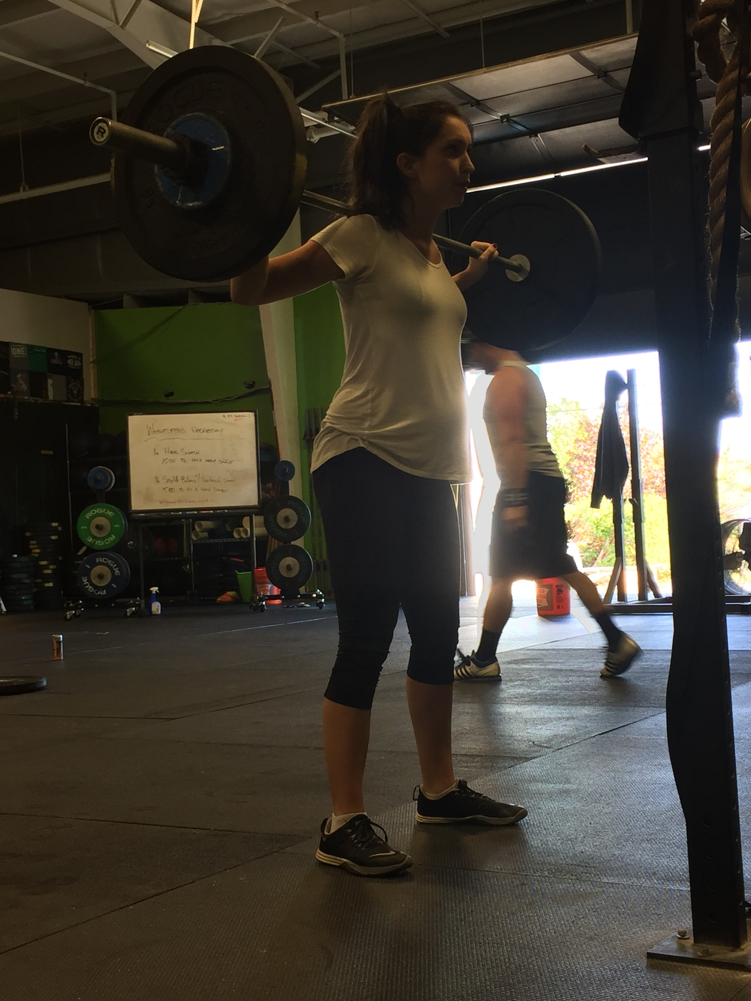 Who said you can't Overhead Squat while pregnant?