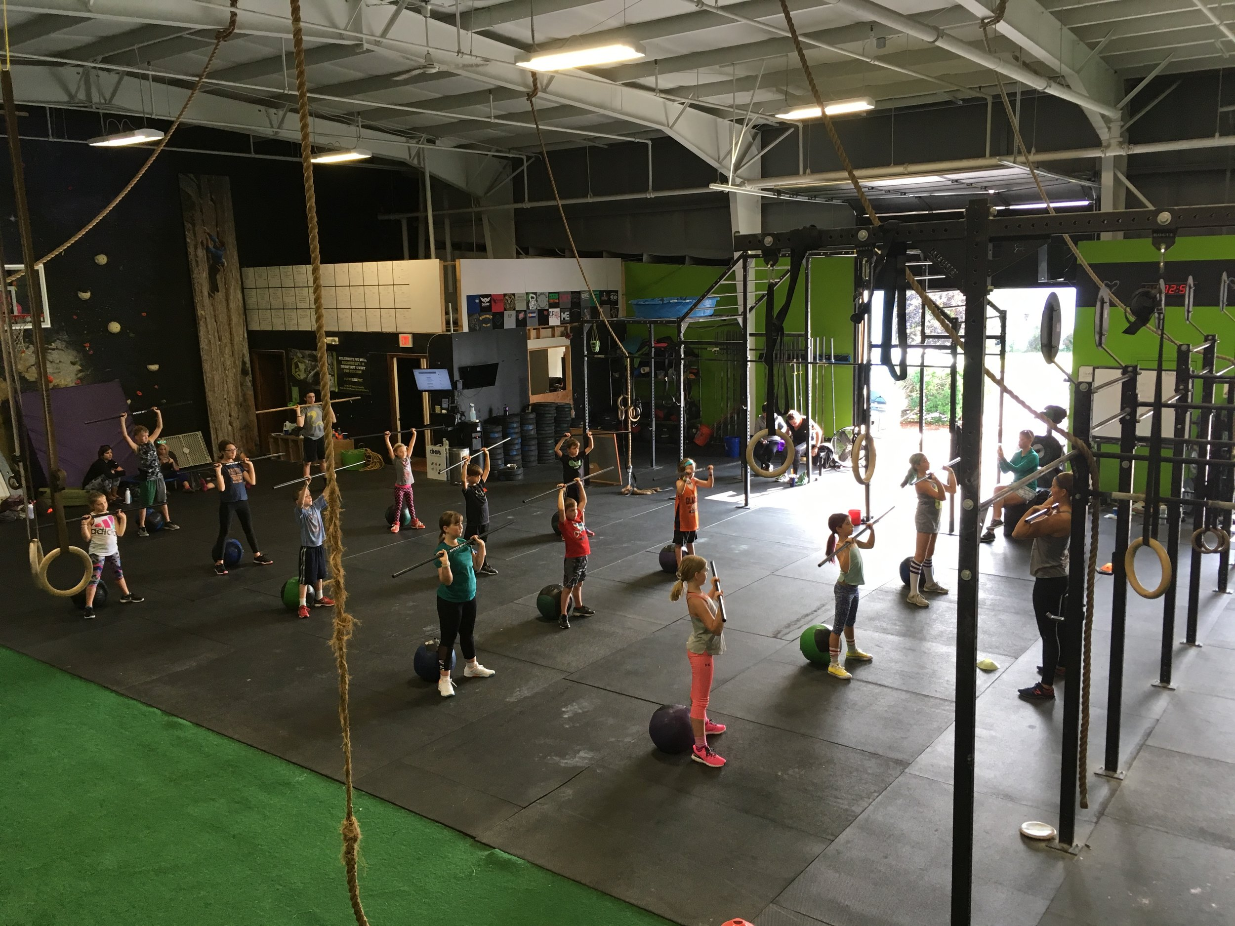 Kids Killing it with thrusters and burpees last weekend!