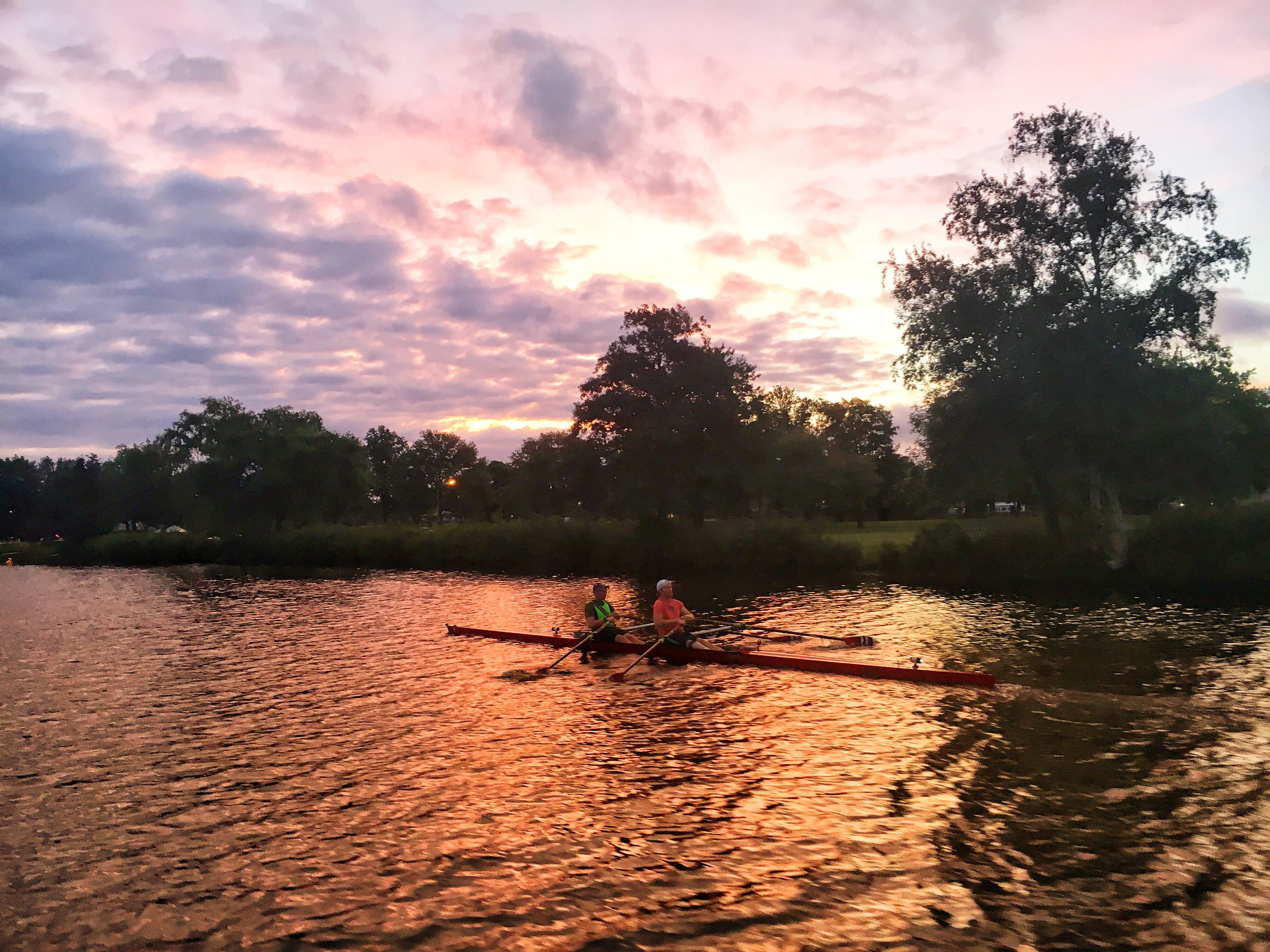 Majestic Andy rowing on the Charles River!