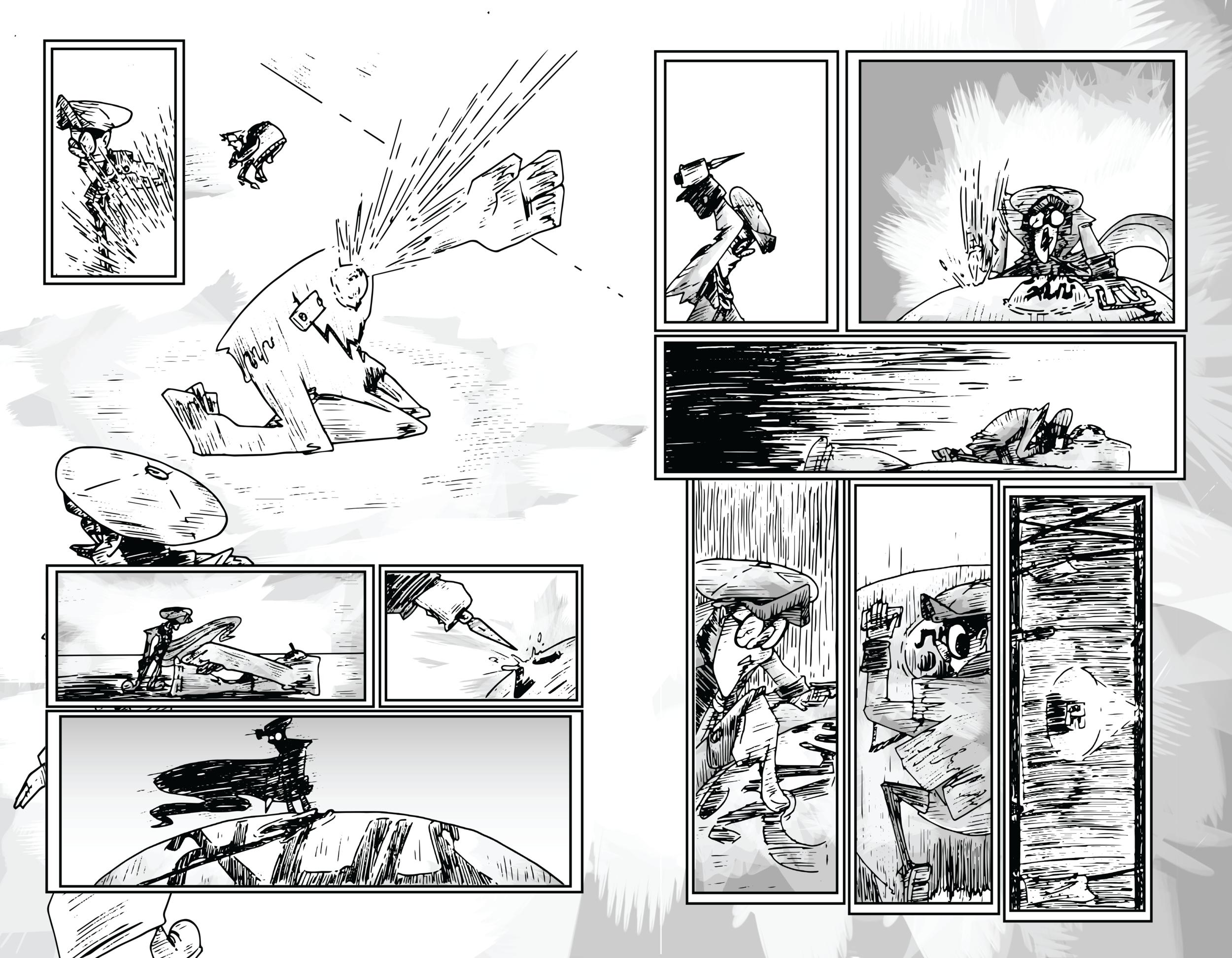 GOLEM #1 PAGE SPREAD 1-2