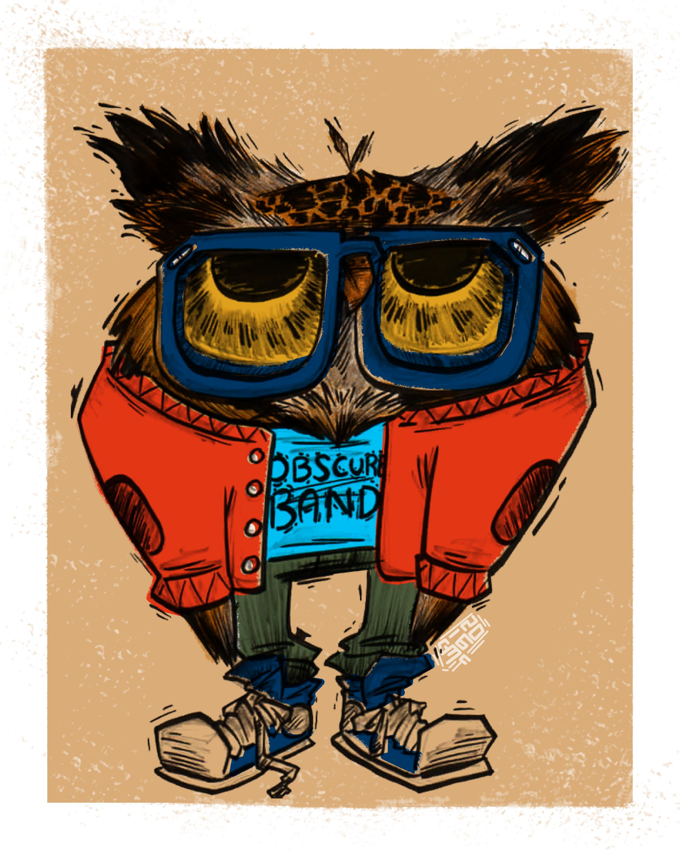HIPSTER PETS: OTIS OWL