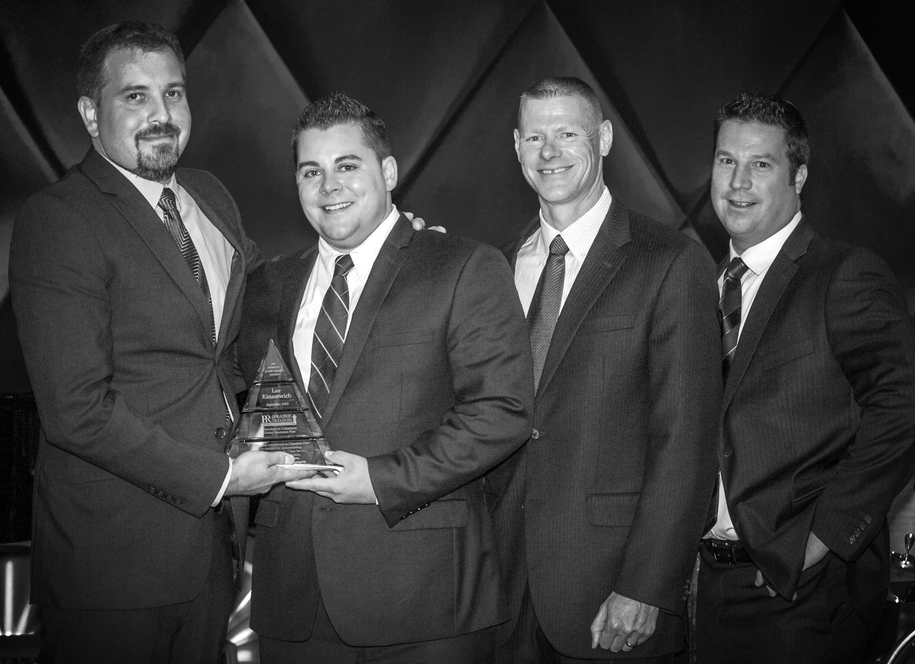 Kyle Fenrich &Lee Kinasewich, Gold Key Benefits Advisors;Ken Willoughby, Regional Marketing Director; Garet Stewart, Gold Key Benefits Advisor