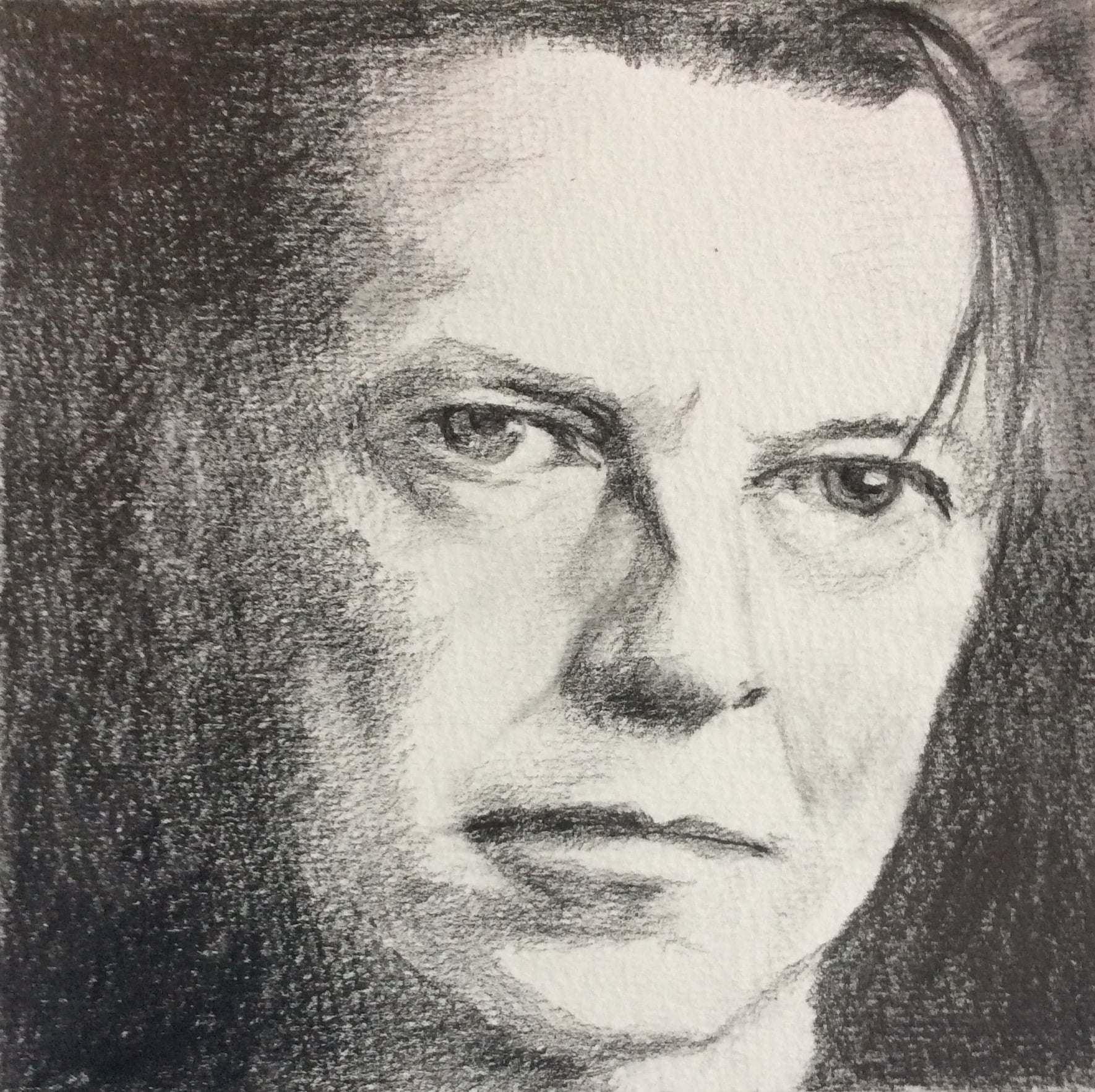 """Goodbye Bowie""   Art journal, pencil, 5.5 X 5.5"""