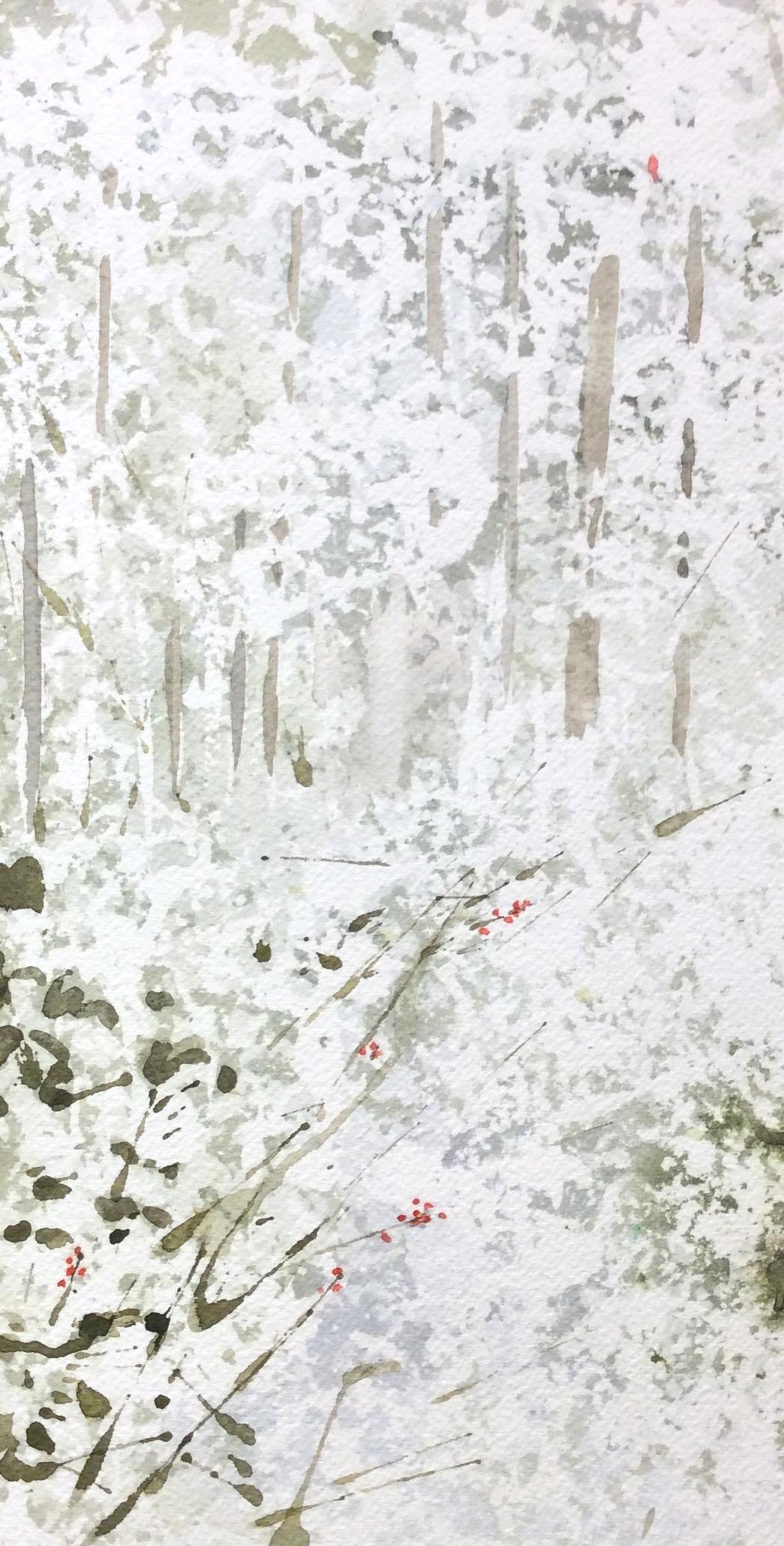 """Cardinal"" Watercolour, 6 x 12"""