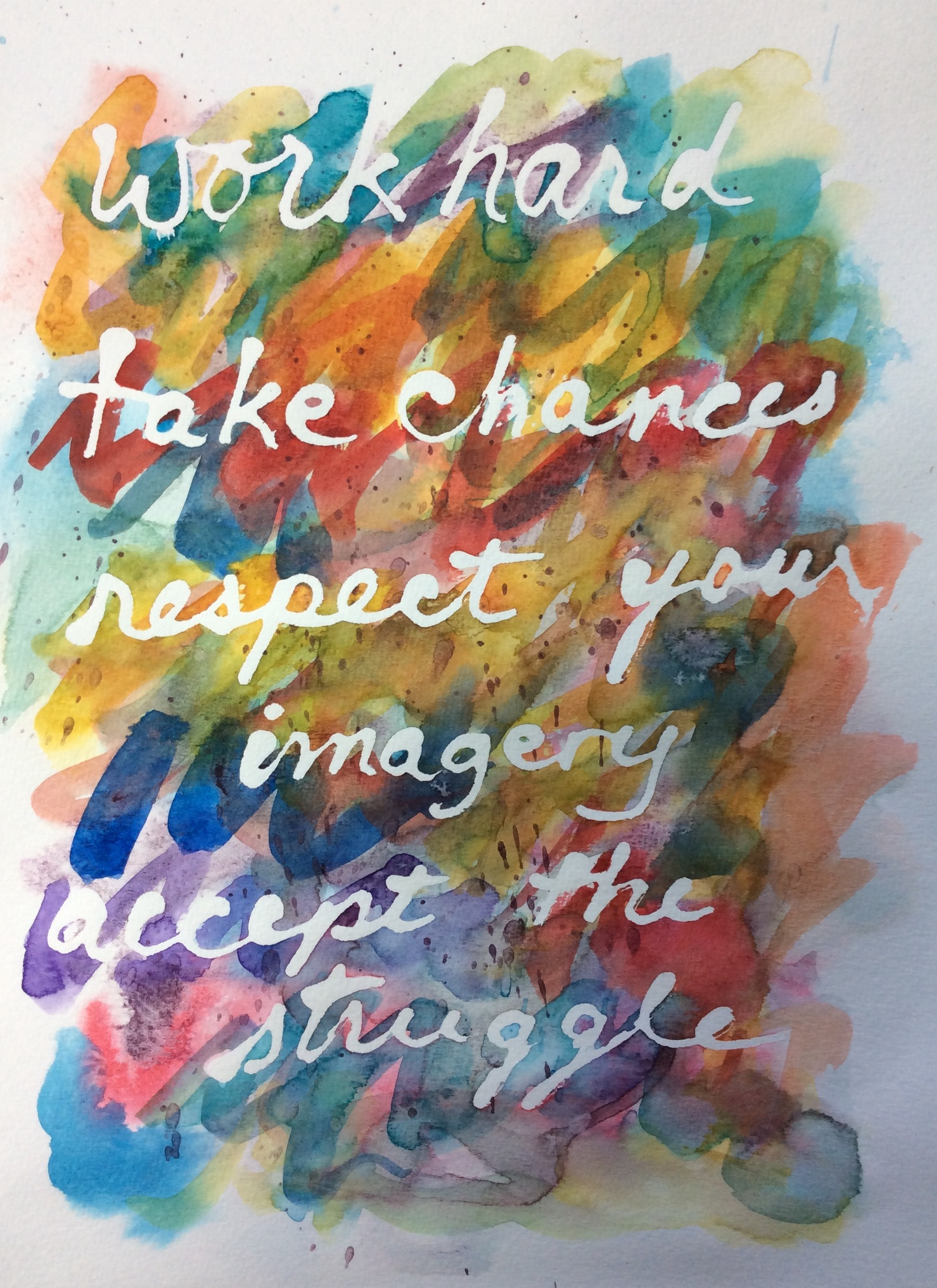 """Accept the Struggle"" Art journal, watercolour"