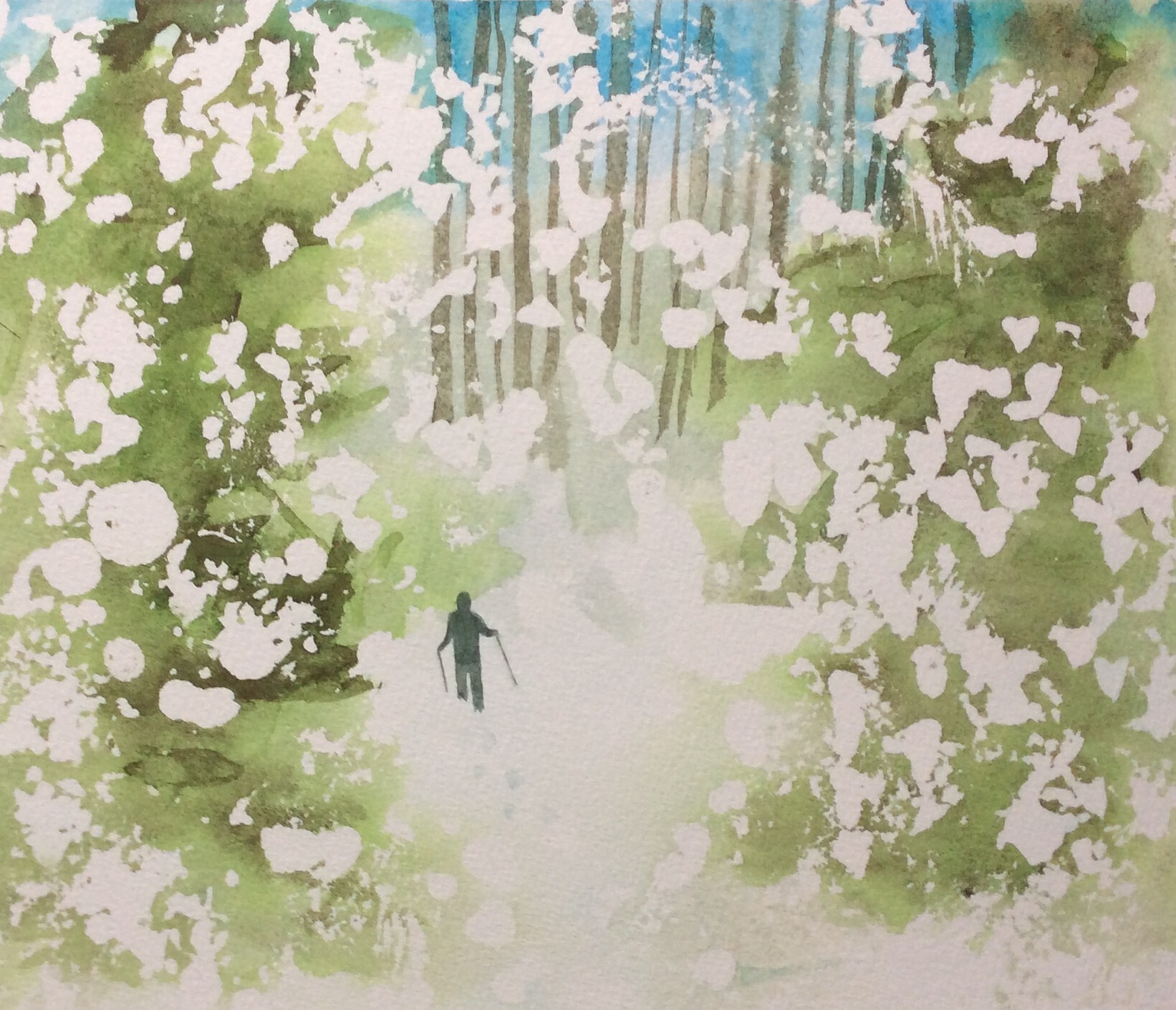 """Irresistible"" Watercolour, 11 x 9.5"""
