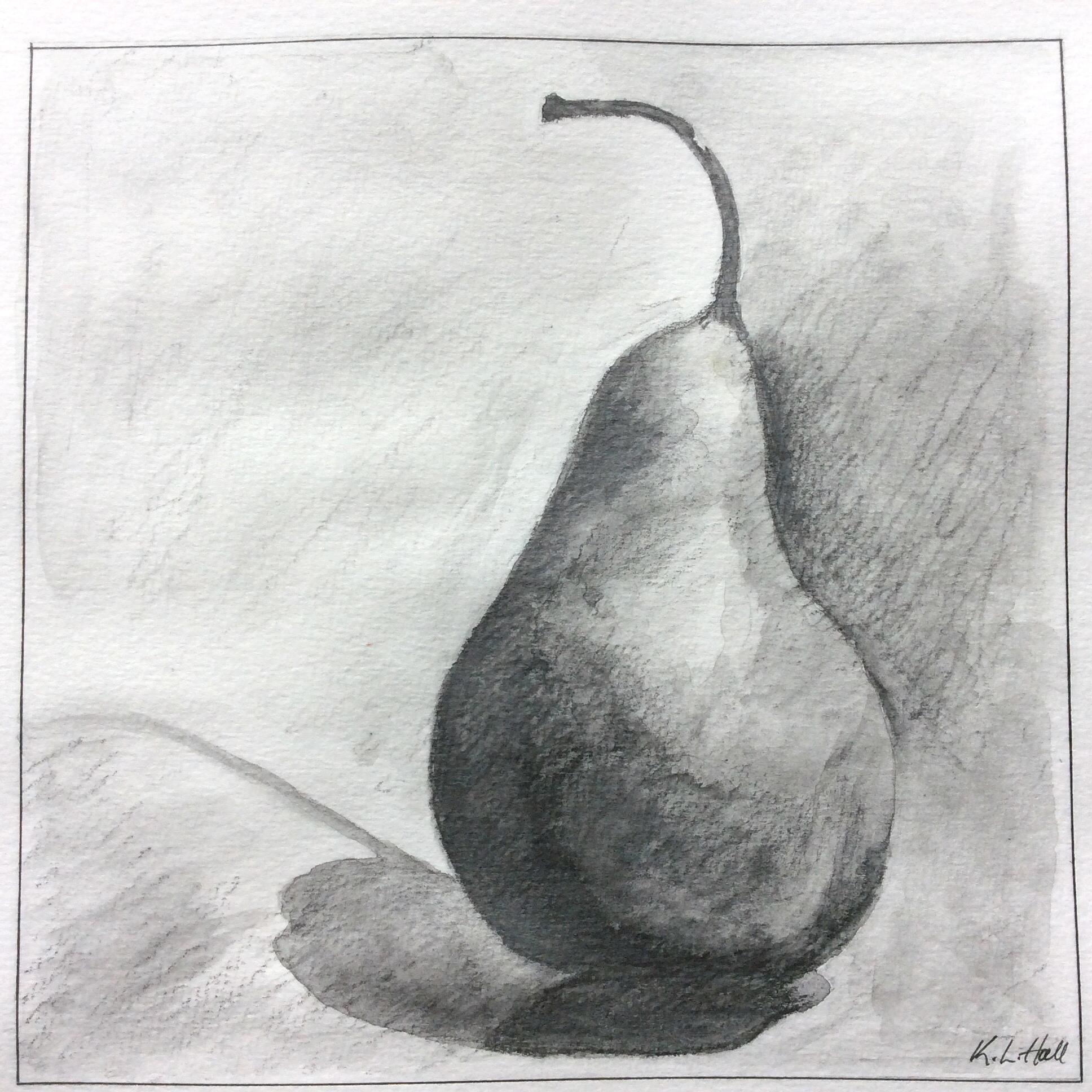 Art journal, water-soluble pencils