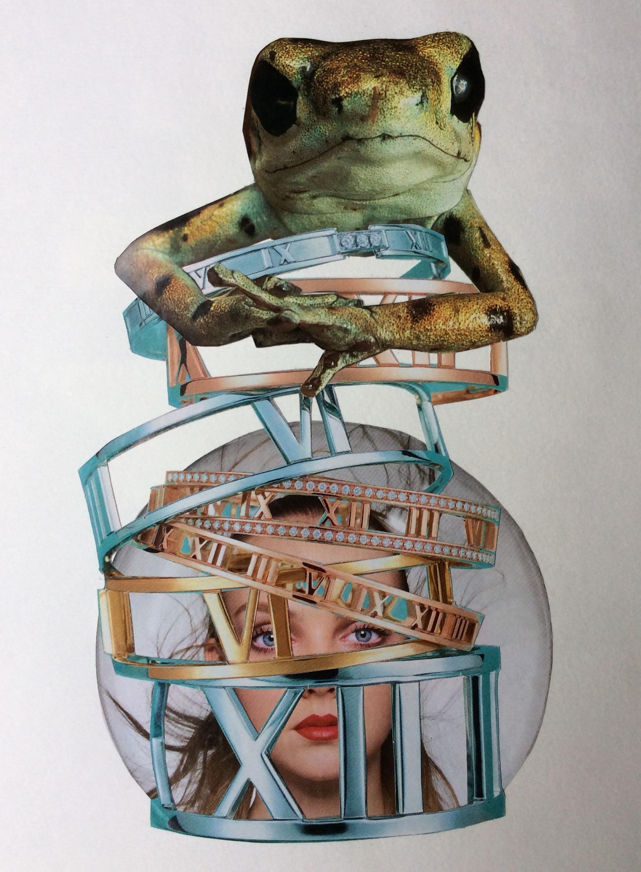 """Kept"" Art journal, magazine collage"