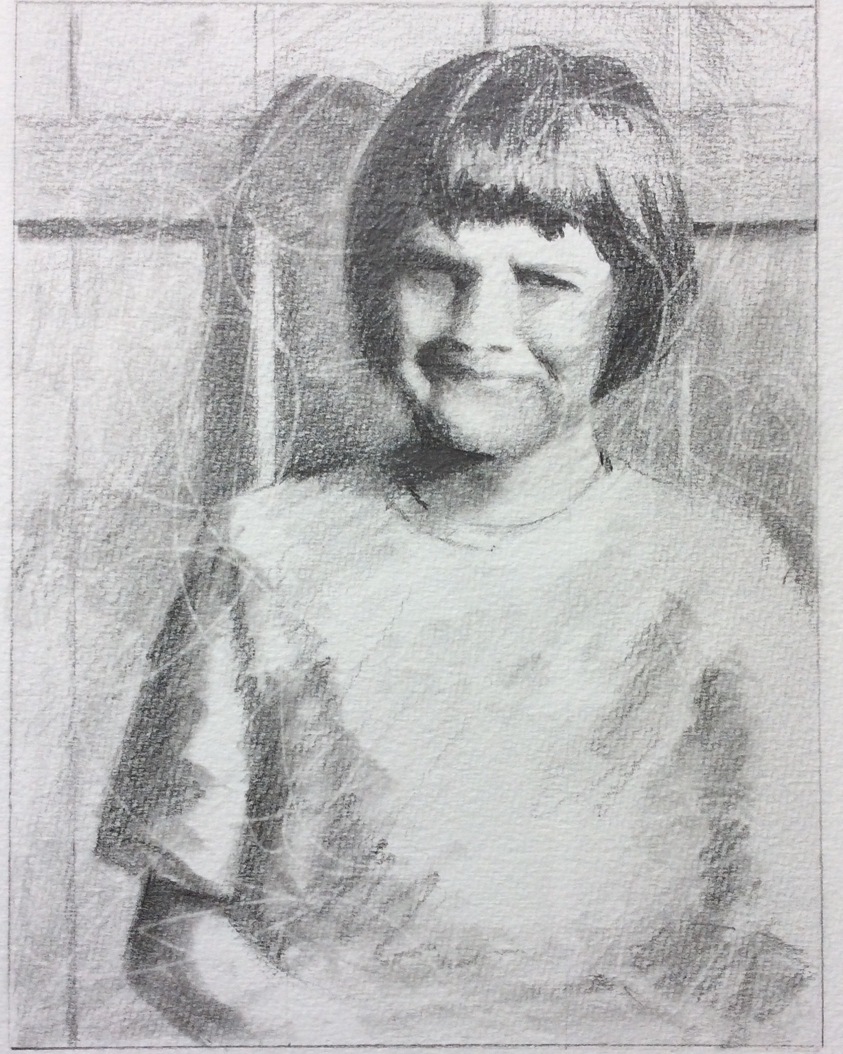 """Susan Morrison, May 1968, Thunder Bay"" Art journal, pencil"