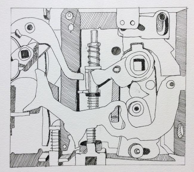 """The Fun Never Stops""  Art journal, ink."