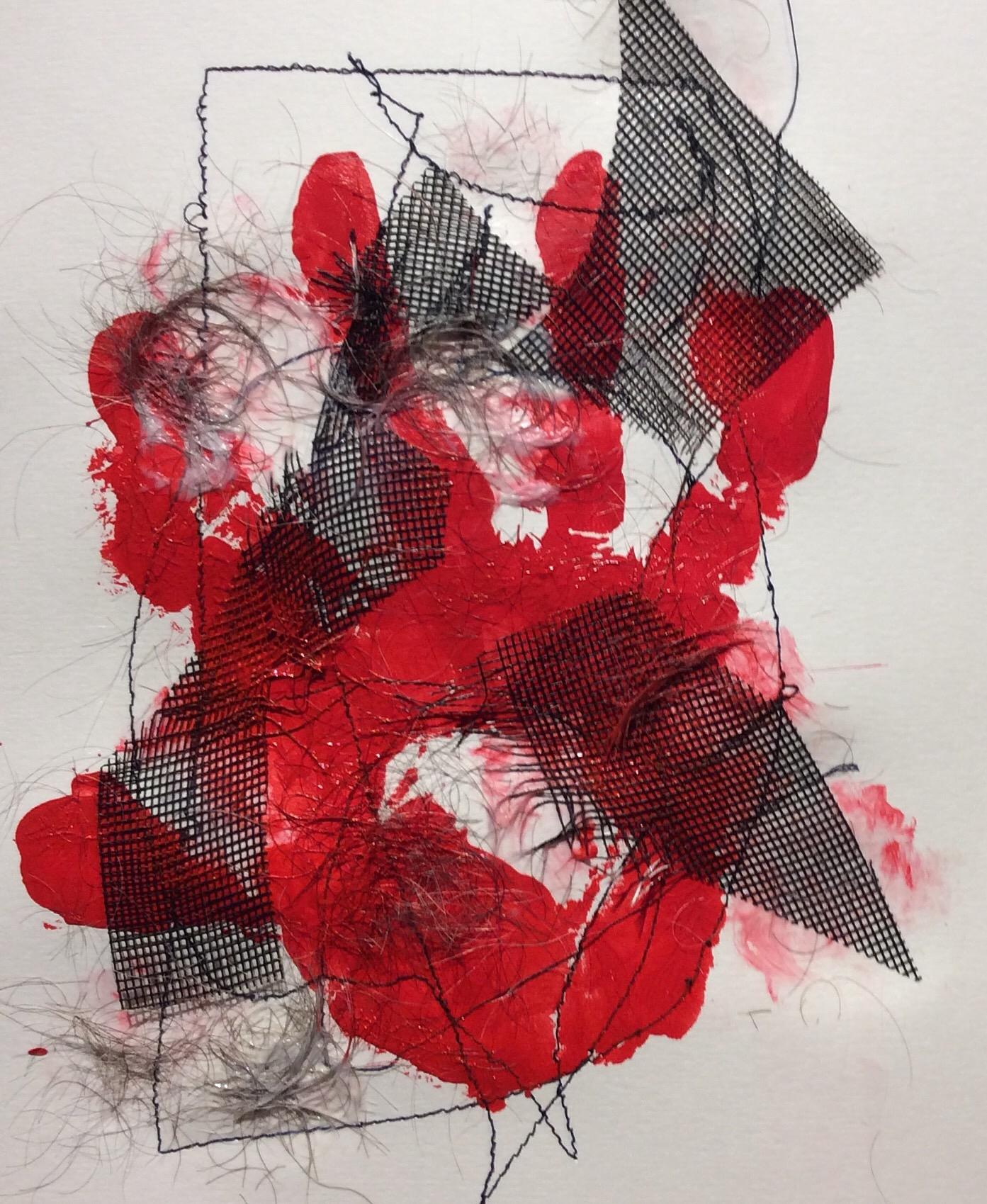 """Frustration"" Art journal, mixed media,"