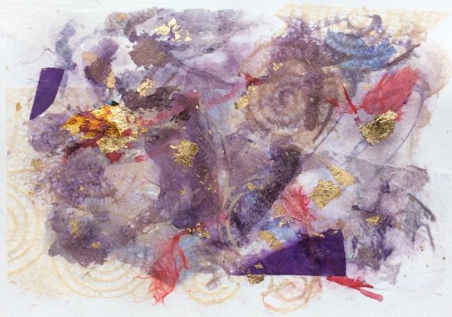 """Gold Rush"" Art journal, mixed media"