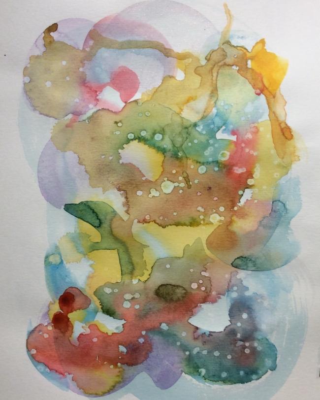 """""""Play Date"""" Art journal, watercolour"""