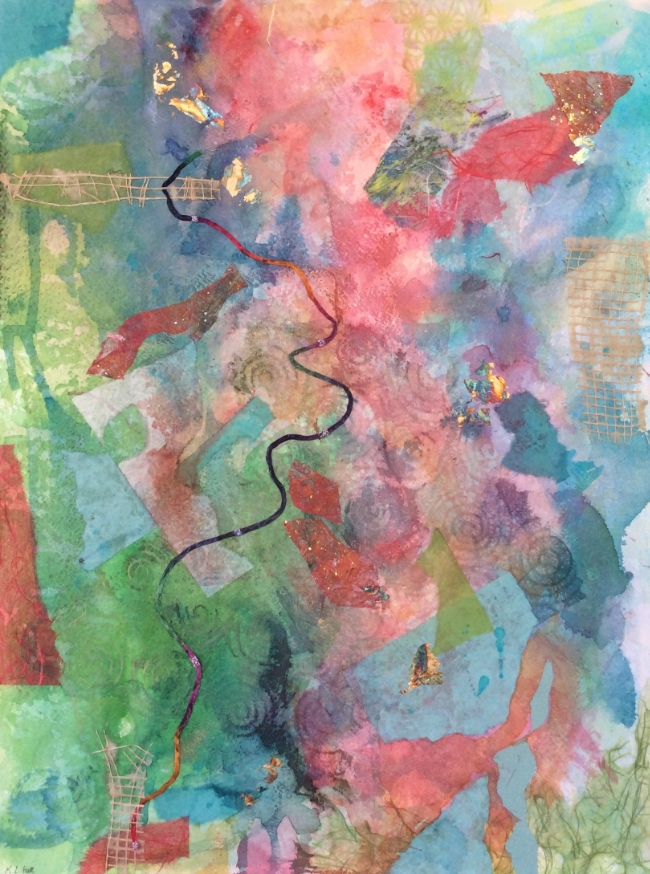 """""""Snake and Ladders"""" Mixed media, 24 x 18"""""""