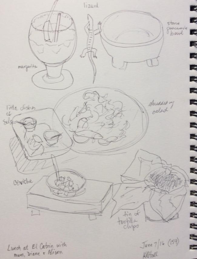 Art journal, ballpoint pen