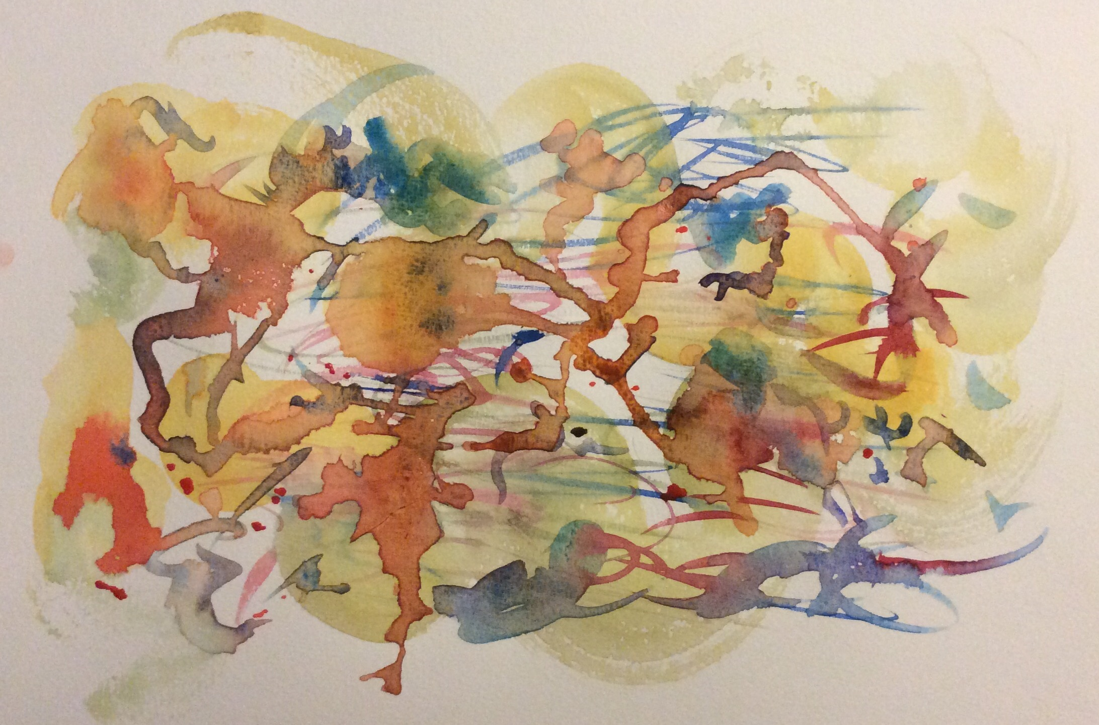 """""""Hither and Yon"""" Art journal, watercolour"""