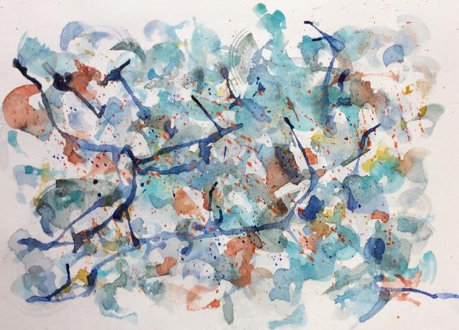 """Dangle and Drip"" Art journal, watercolour."