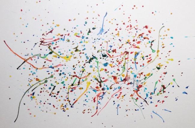 """Dance Party"". Art journal, watercolour"