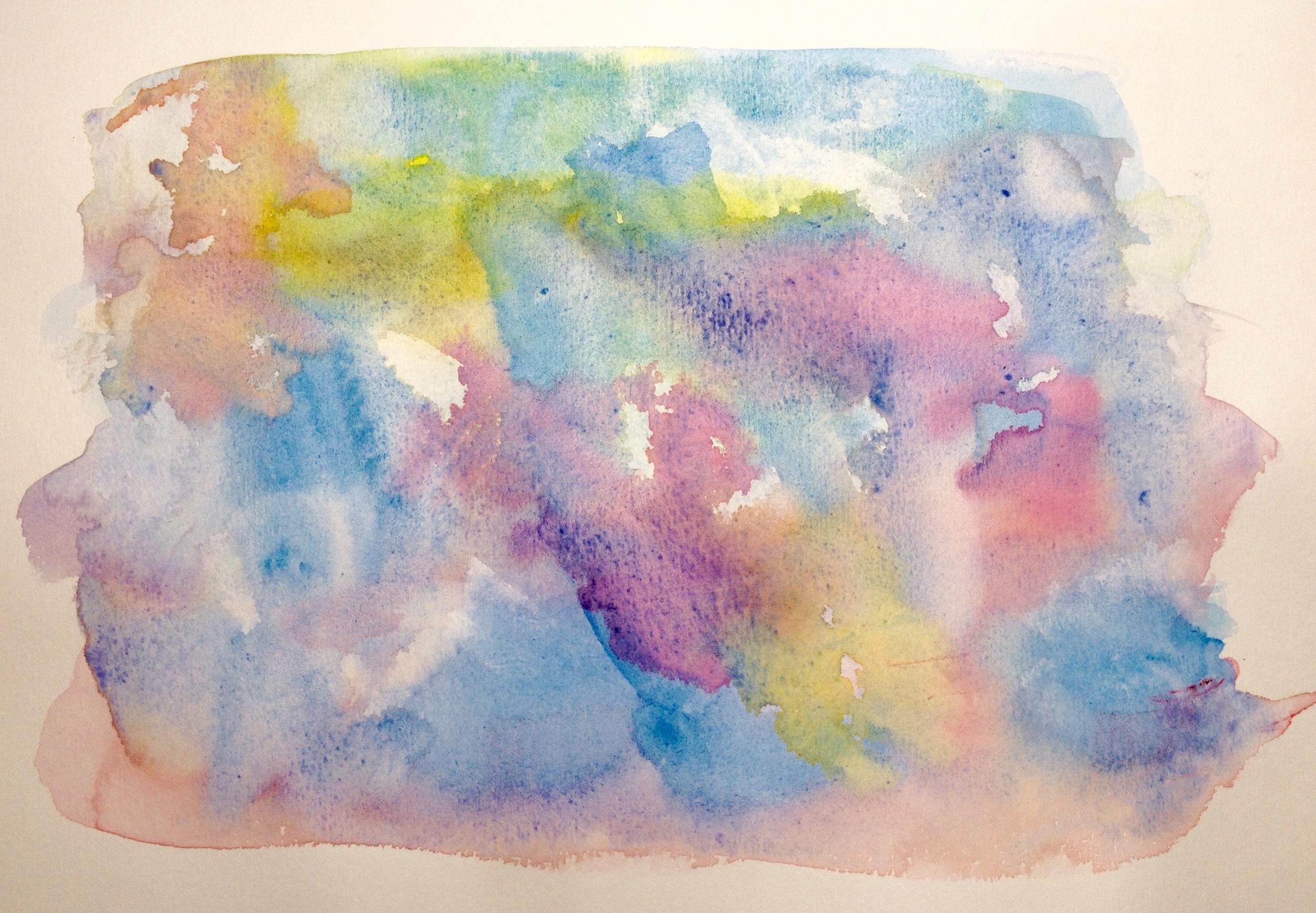 Art journal, watercolour